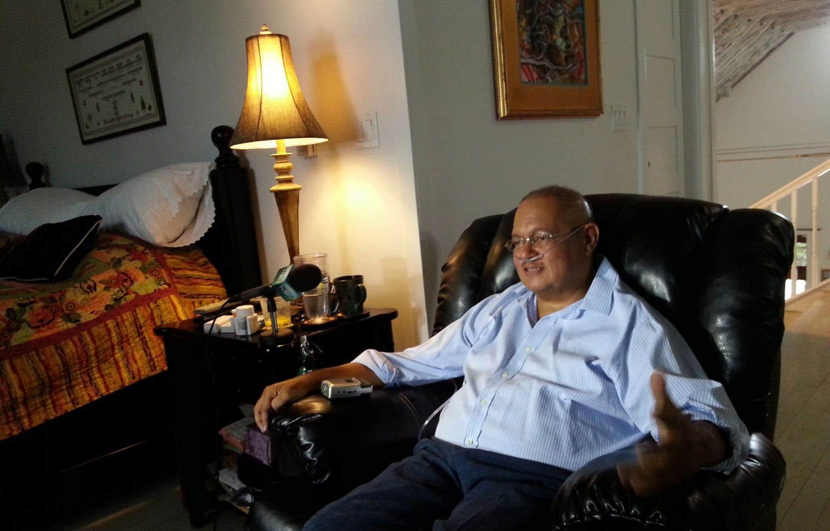 Arthur Porter dans sa résidence des Bahamas, avant son emprisonnement au Panama