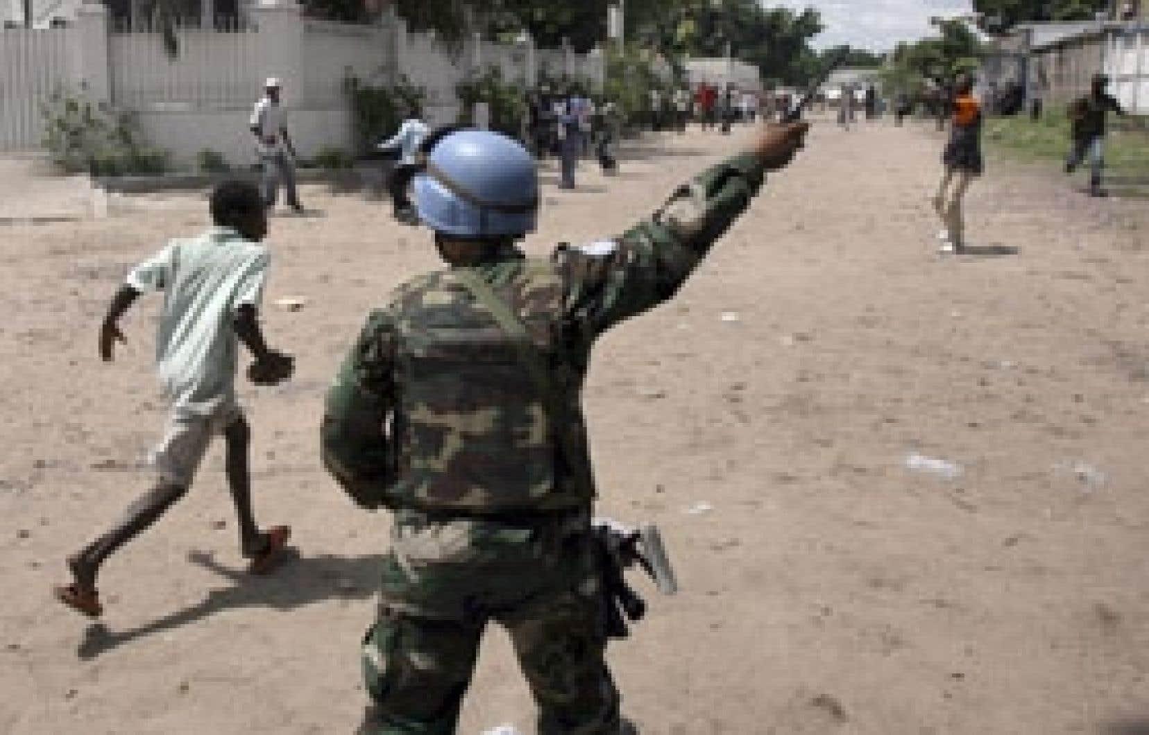 Quelques accrochages entre les forces de sécurité et des partisans de Jean-Pierre Bemba se sont produits hier.