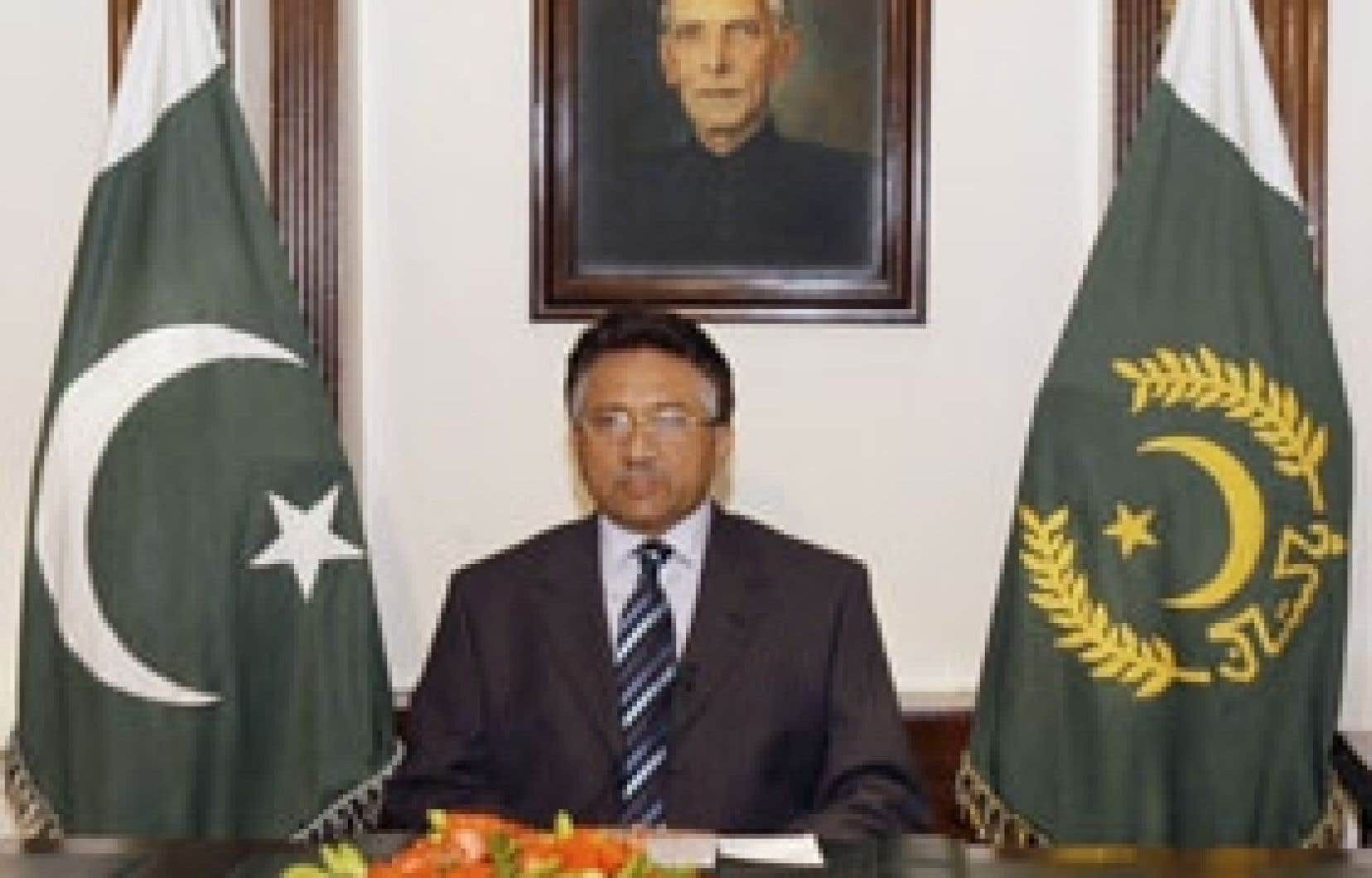Le président Pervez Musharaff lors de son allocution télévisée.