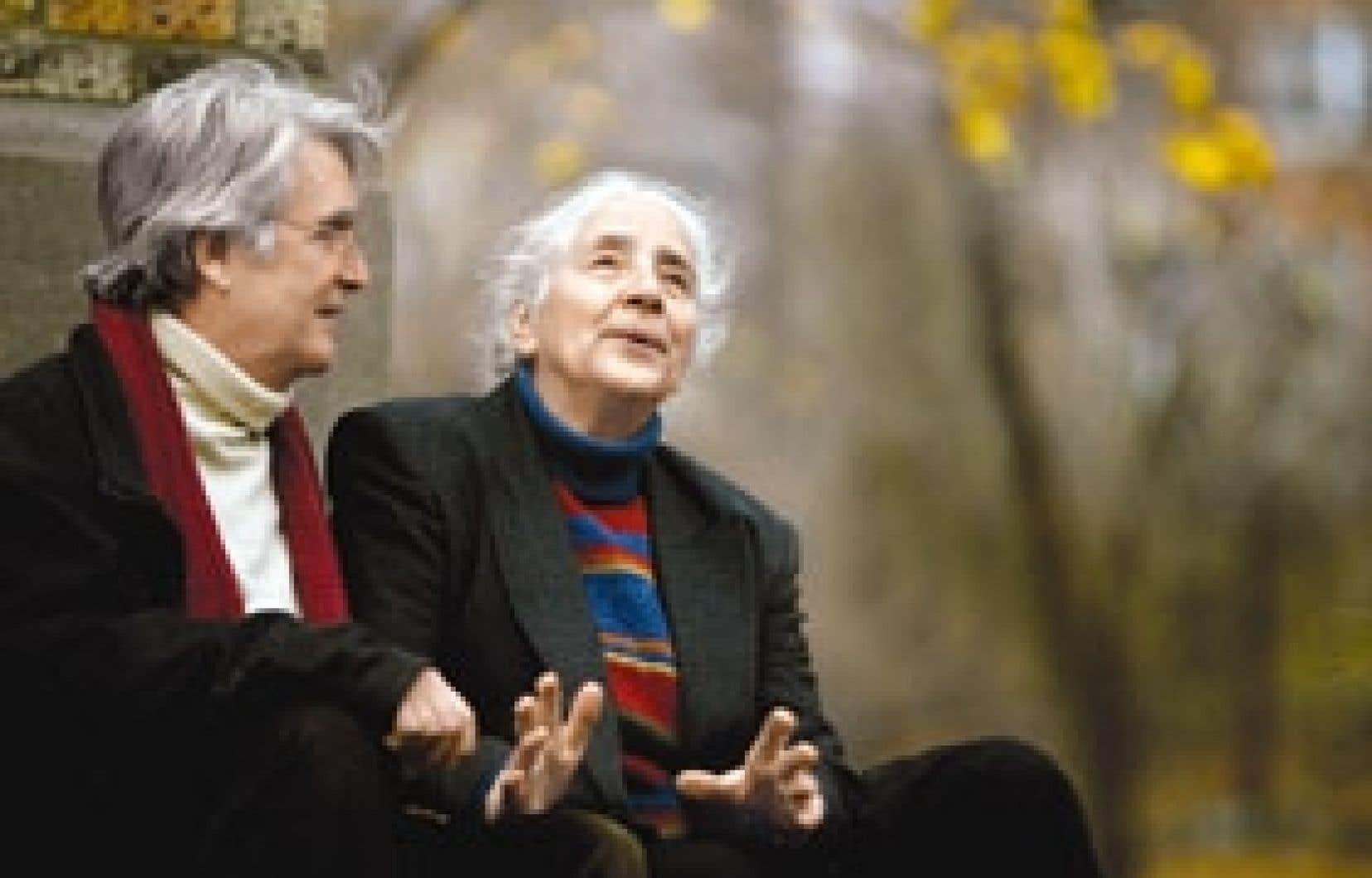 Le compositeur Gilles Tremblay et sa compagne Jacqueline.