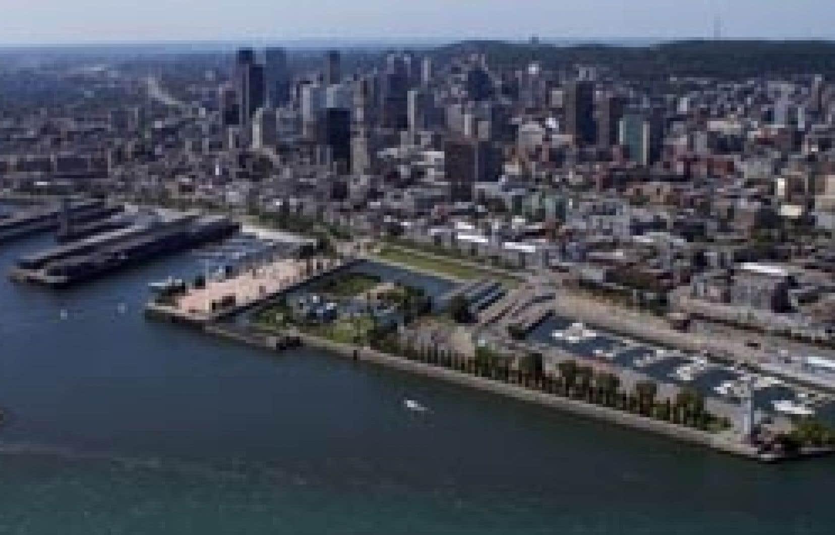 Le projet de télécabines proposé par Skylink permettrait de relier le Vieux-Montréal à Saint-Lambert.