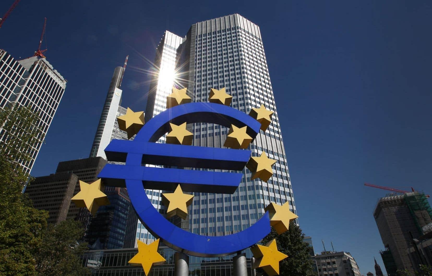 La Banque centrale européenne à Francfort