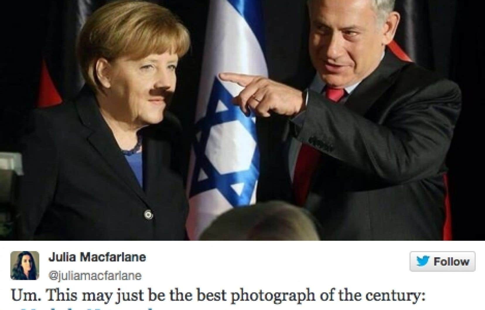 Ombre fatale. En février ce cliché montrant Benyamin Netanyahou et Angela Merkel à Jérusalem a fait fureur dans les univers numériques.