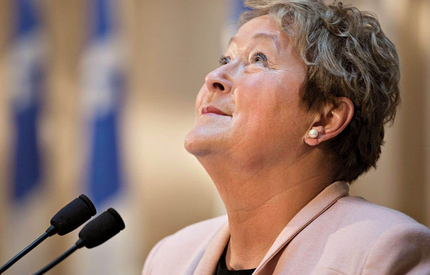 Pauline Marois s'est adressée mercredi aux médias pour la première fois depuis la cuisante défaite du Parti québécois le 7avril dernier. Elle a livré un discours d'adieu empreint d'émotion.