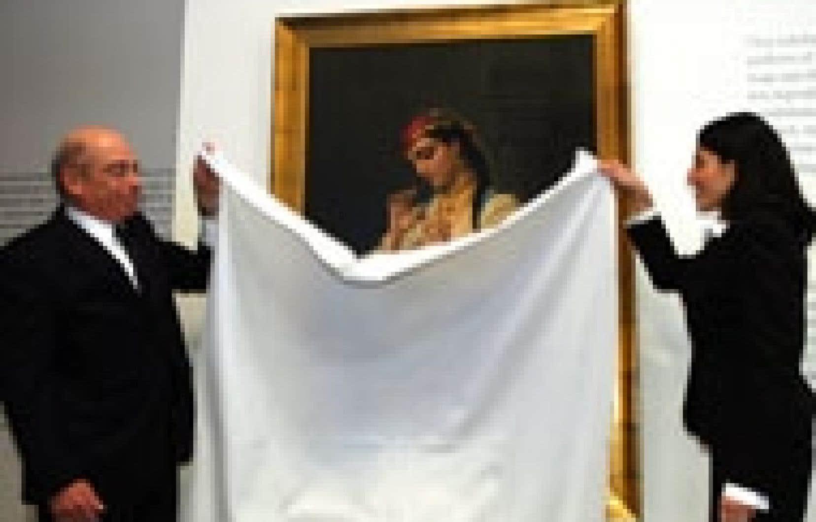 La toile récupérée a été dévoilée hier à la Galerie FOFA par Robert Vineberg, représentant de la succession de Max Stern, et Sherri North-Cohen, du New York State Banking Department.