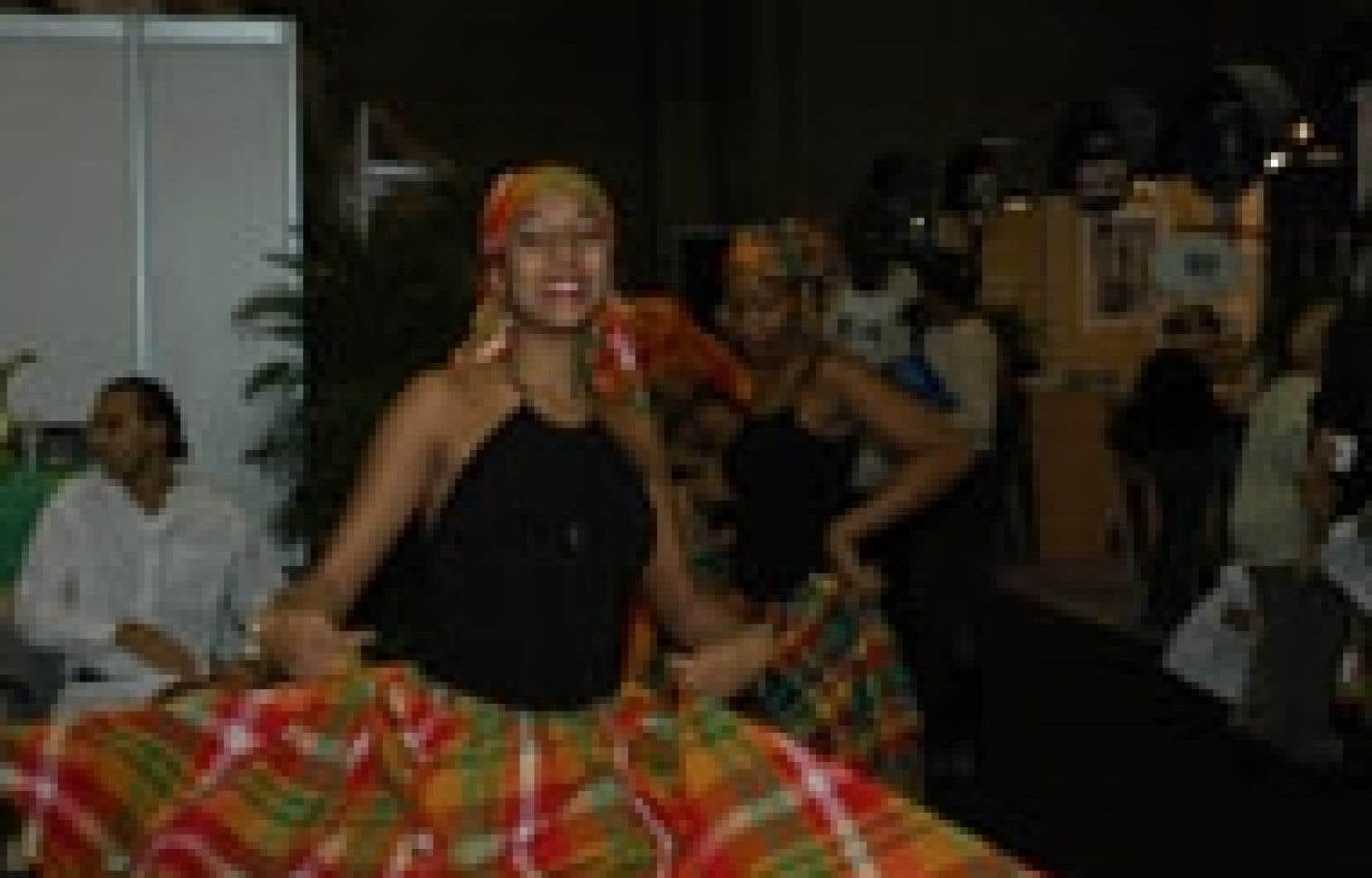 Fiesta martiniquaise au pavillon de la France au Salon international tourisme voyages 2005. Source: SITV