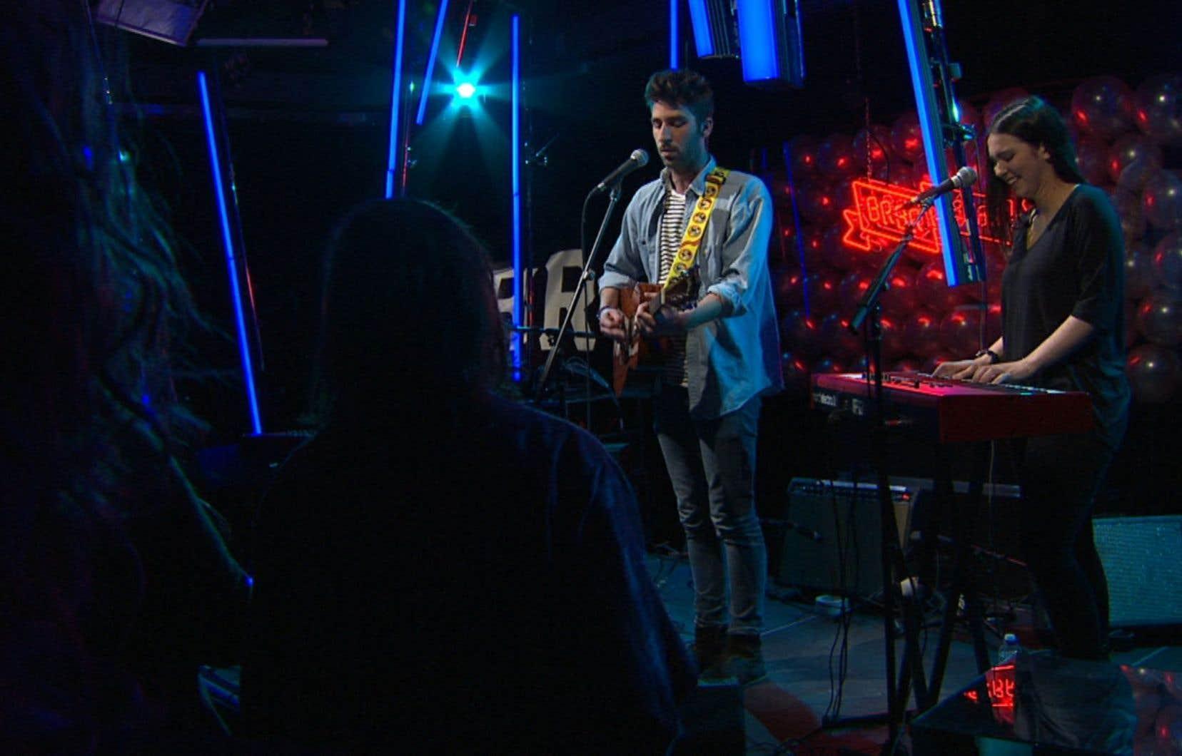 Reçu par l'équipe de BRBR, David Giguère s'est avoué très étonné de pouvoir chanter en français à Toronto.