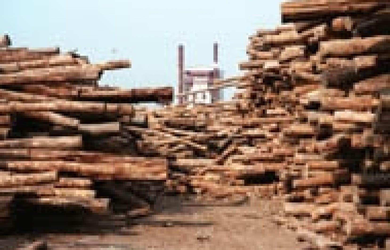 L'usine Riau Andalan Pulp and Paper, fleuron d'APRIL au centre de Sumatra est la deuxième du monde en capacité annuelle: deux millions de tonnes de pâte à papier, en avalant neuf millions de mètres cubes de bois.