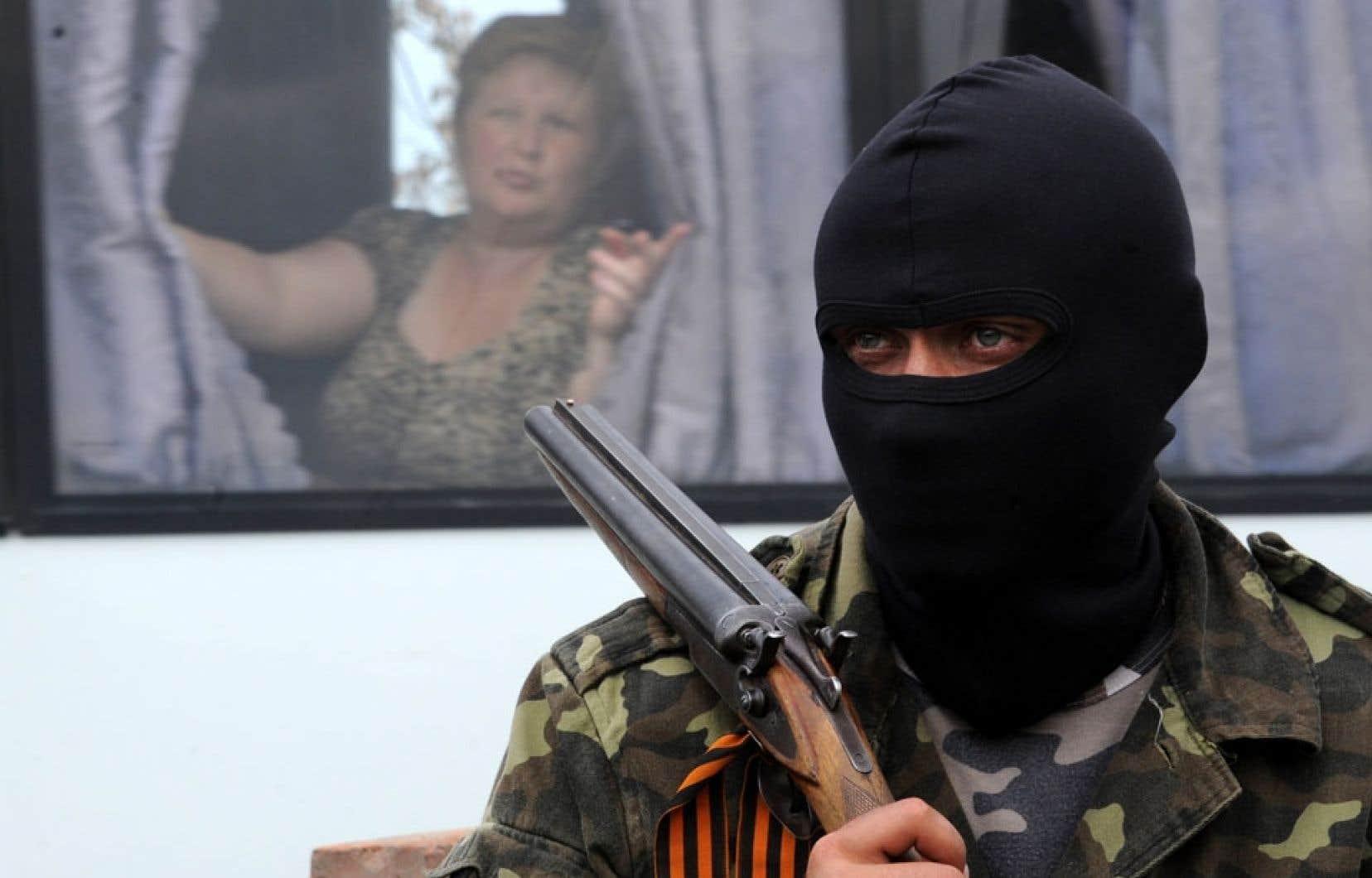 Une scène de la vie quotidienne à Slavyansk.