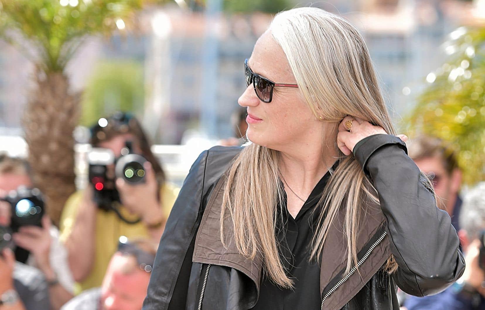 Jane Campion à Cannes en mai dernier. Elle est la seule réalisatrice à avoir remporté la Palme d'or du prestigieux festival.