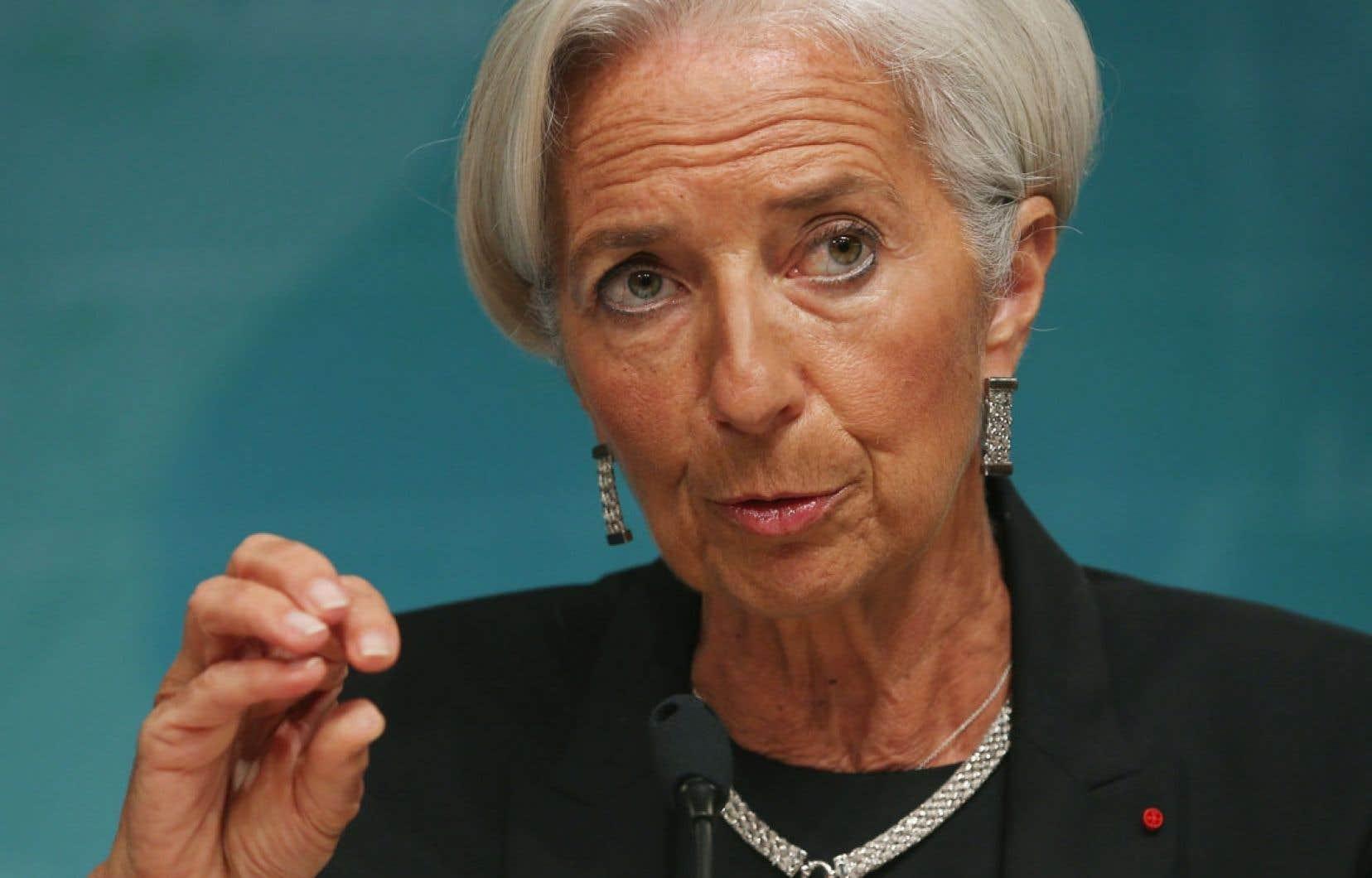 « Les cicatrices de la récession sont encore visibles », a déclaré lundi la directrice générale du FMI, Christine Lagarde, lors d'une conférence de presse à Washington.