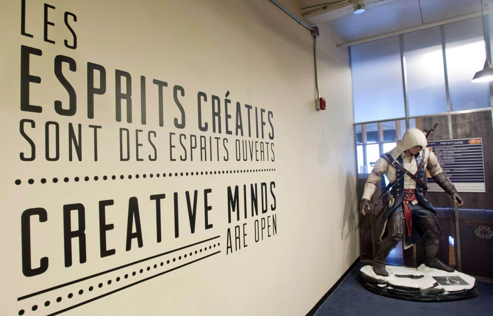L'entrée d'Ubisoft à Montréal. La métropole québécoise arrive au premier rang des grandes villes dans le secteur de l'industrie numérique.