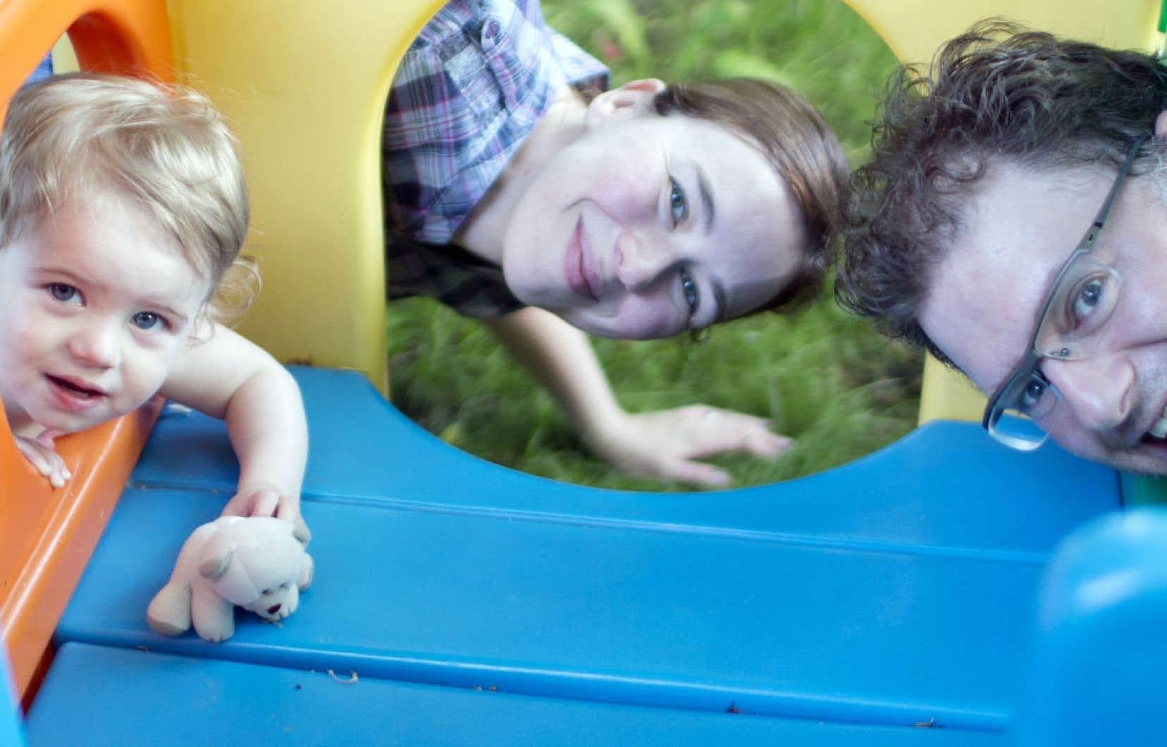 Christelle, Alain et leur fille, née grâce au programme de procréation assistée