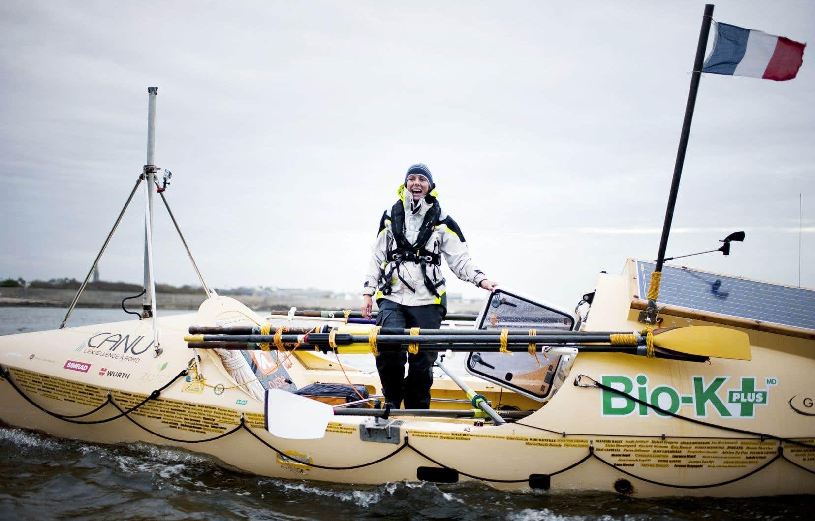 Mylène Paquette a amassé 27240$ l'an dernier pour sa traversée de l'Atlantique à la rame grâce au financement participatif.