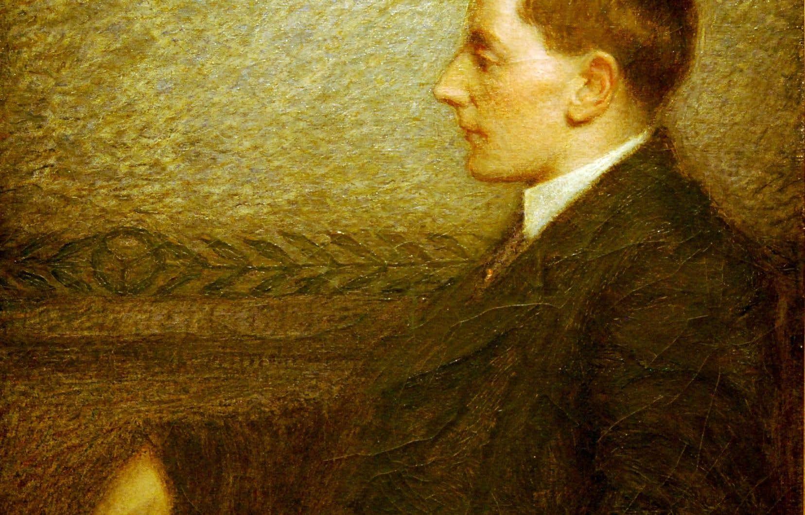 Portrait de Guy Delahaye, poète, huile sur toile, c. 1911, coll. MNBAQ.