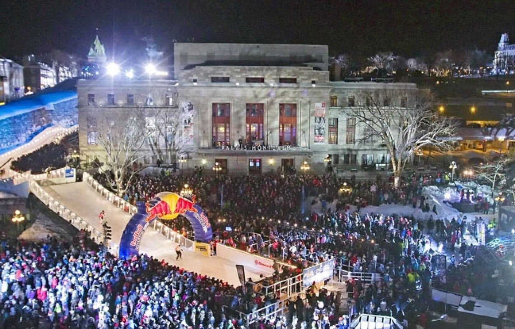 Le «Qubec Red Bull Crashed Ice» incarne l'esthétique prisée de l'administration Labeaume.