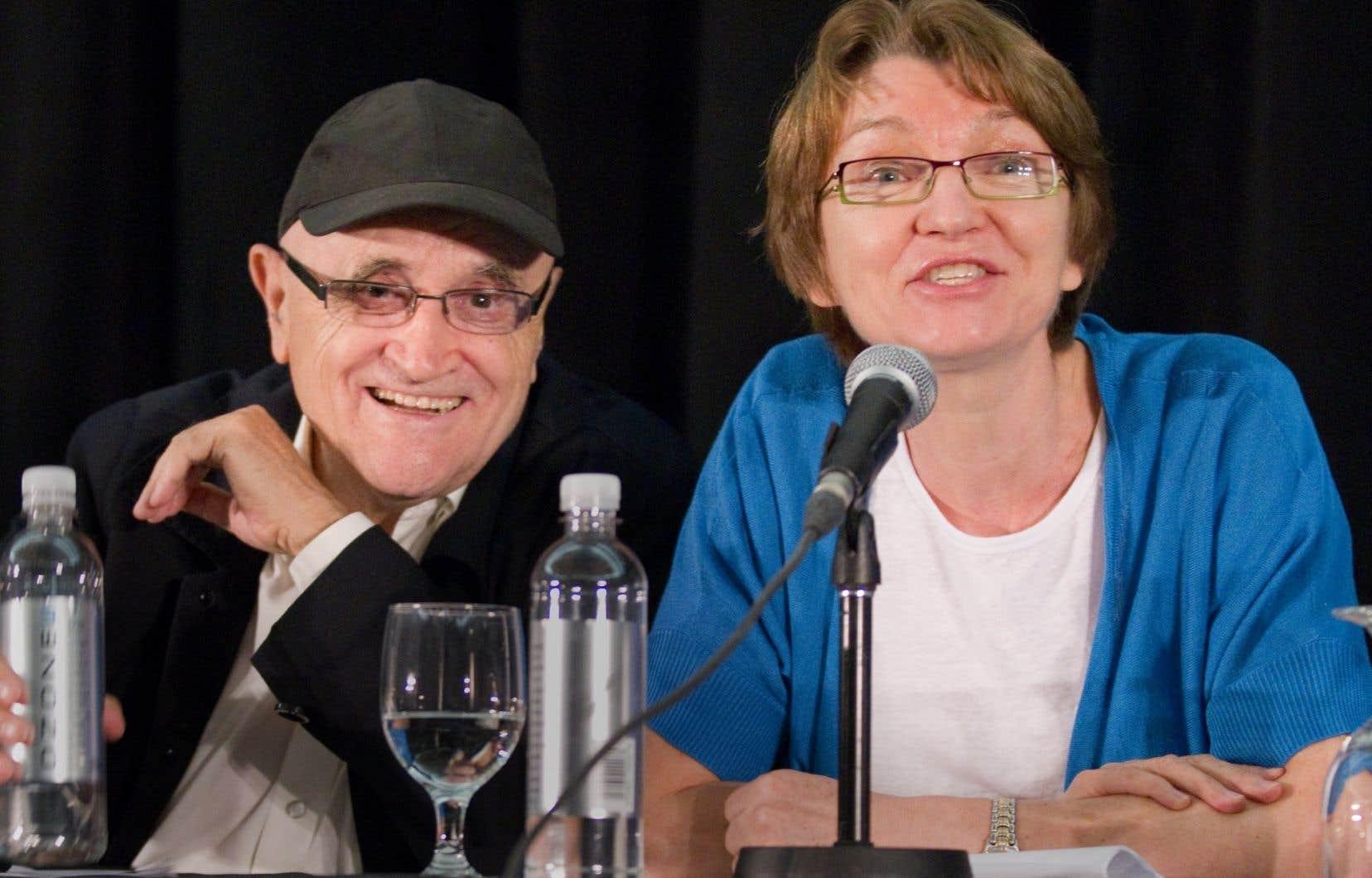 Le président du Festival des films du monde, Serge Losique, et la directrice générale Danièle Cauchard