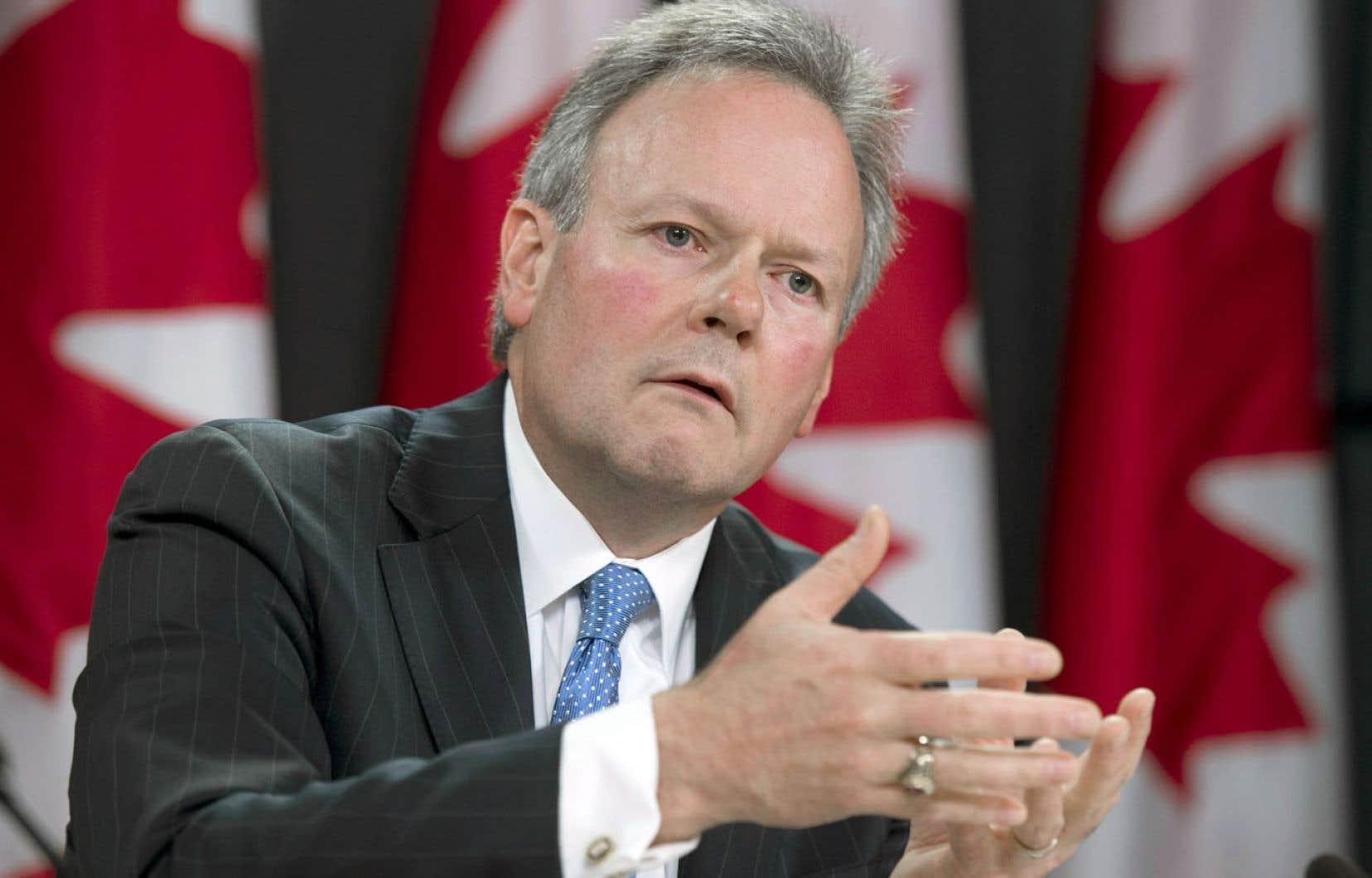 Stephen Poloz, gouverneur de la Banque du Canada, estime que l'économie n'est pas encore assez solide.