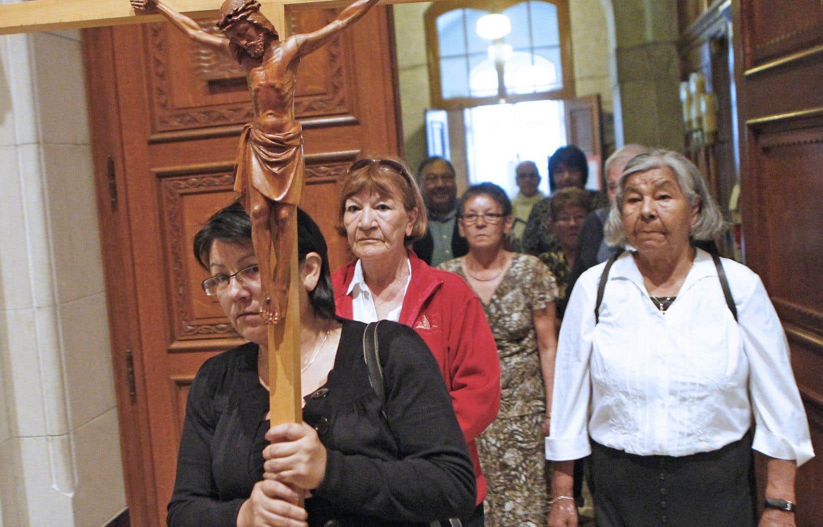 Pèlerinage à la basilique de Sainte-Anne-de-Beaupré (photo d'archives).
