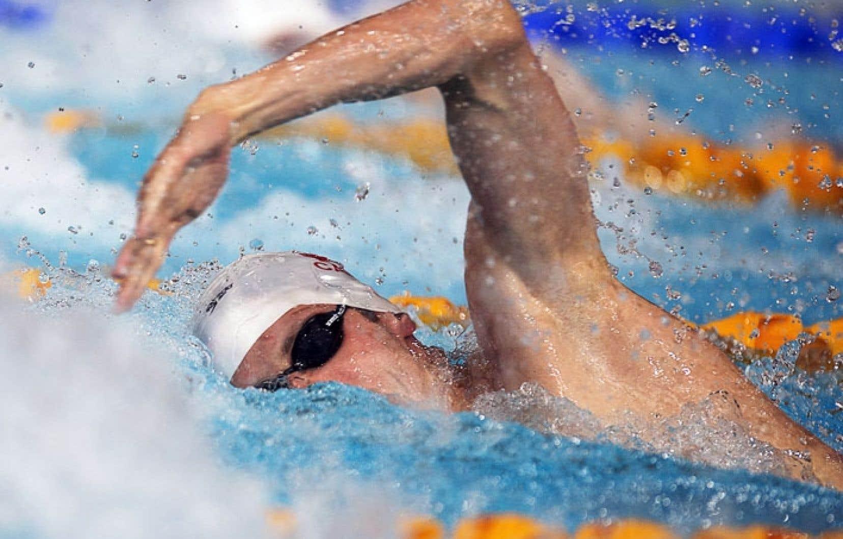 Ryan Cochrane nageant vers la victoire jeudi. Il a remporté l'épreuve du 400 m libre en 3 min 43,46 secondes.