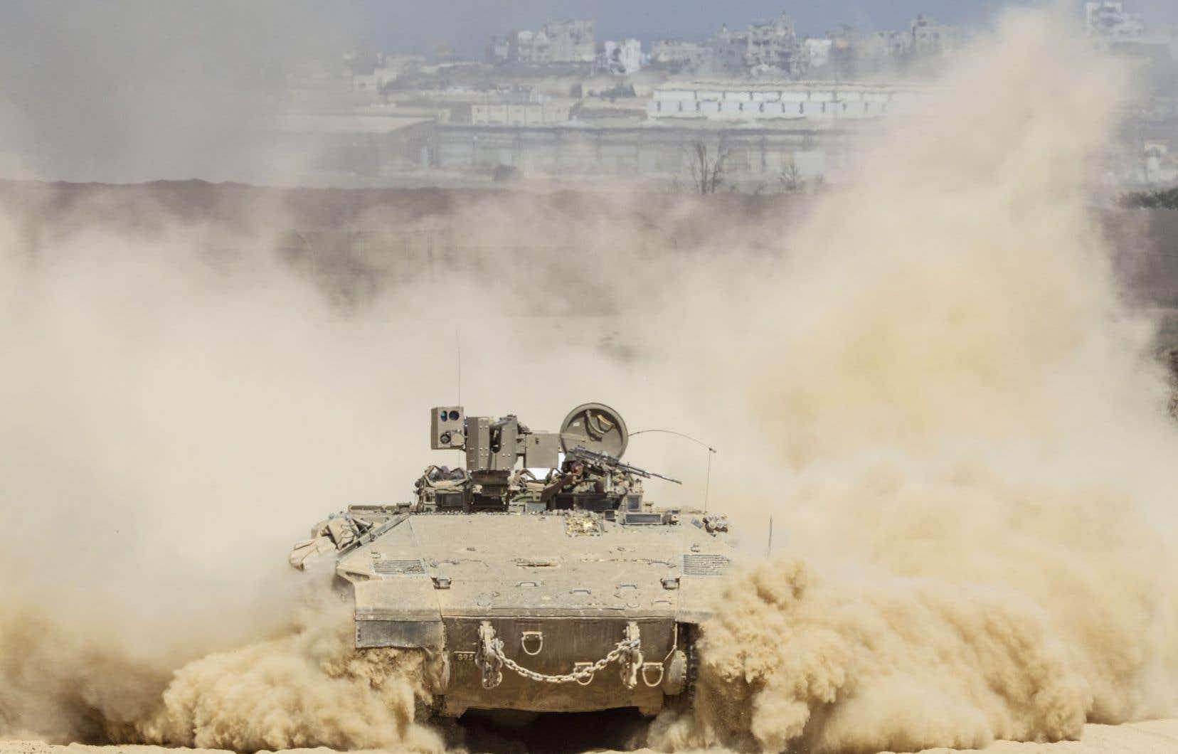 Tsahal poursuivait son opération à Gaza vendredi.