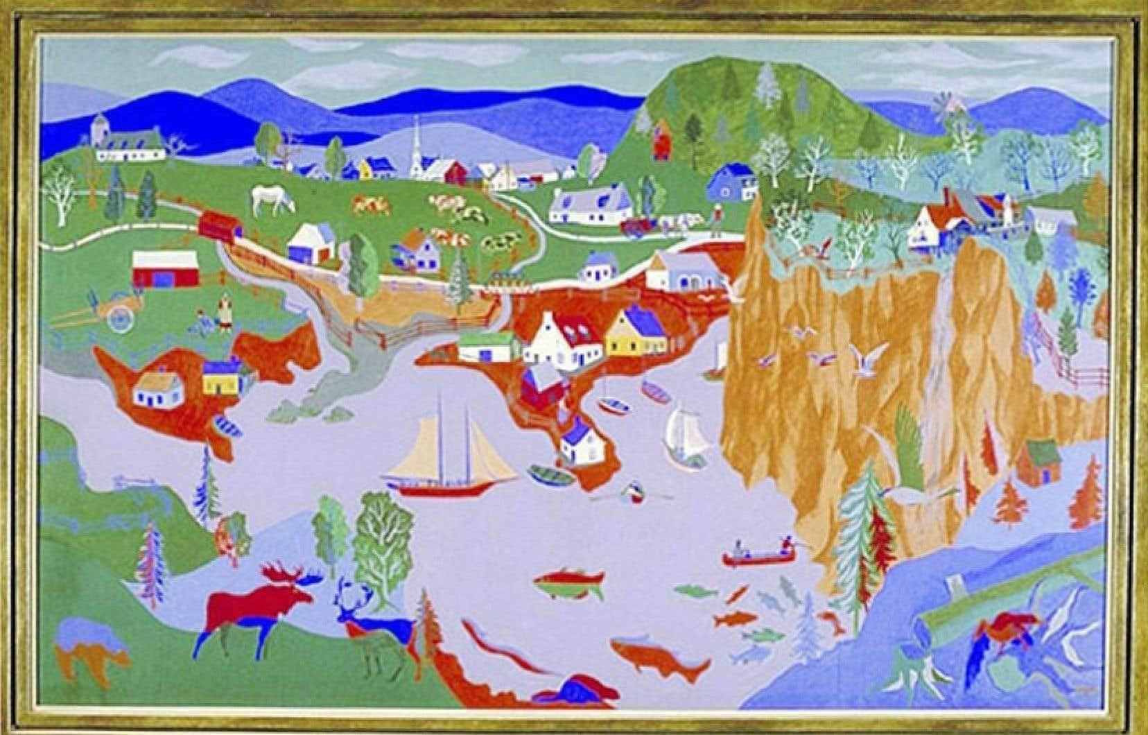 La toile représentant l'Est canadien de l'œuvre Canada Ouest Canada Est.