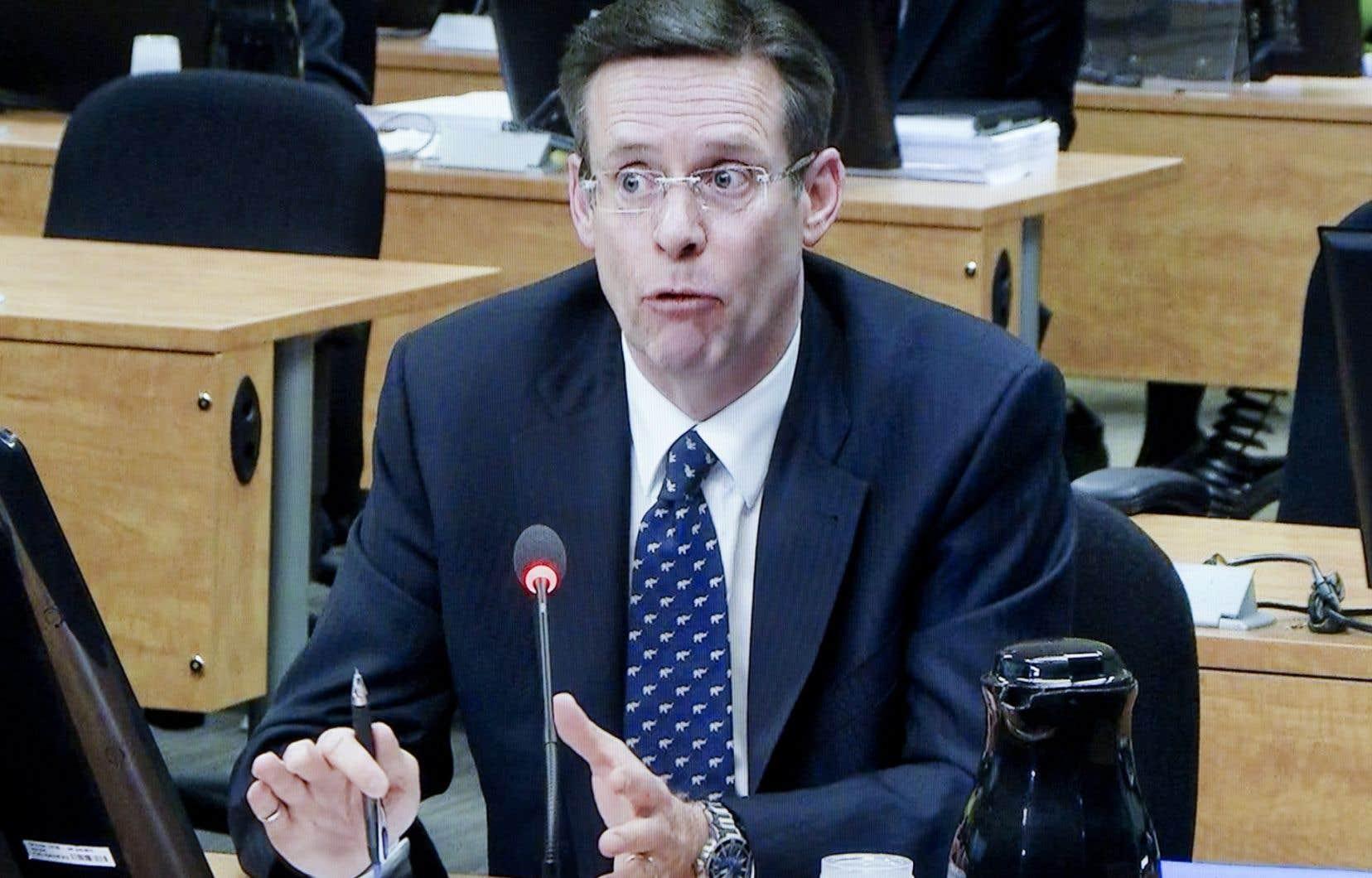 Robert Marcil lors de son passage à la commission Charbonneau en avril dernier.