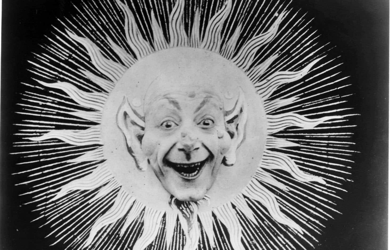 Une image du film L'éclipse de soleil en pleine lune de Georges Méliès, en 1907