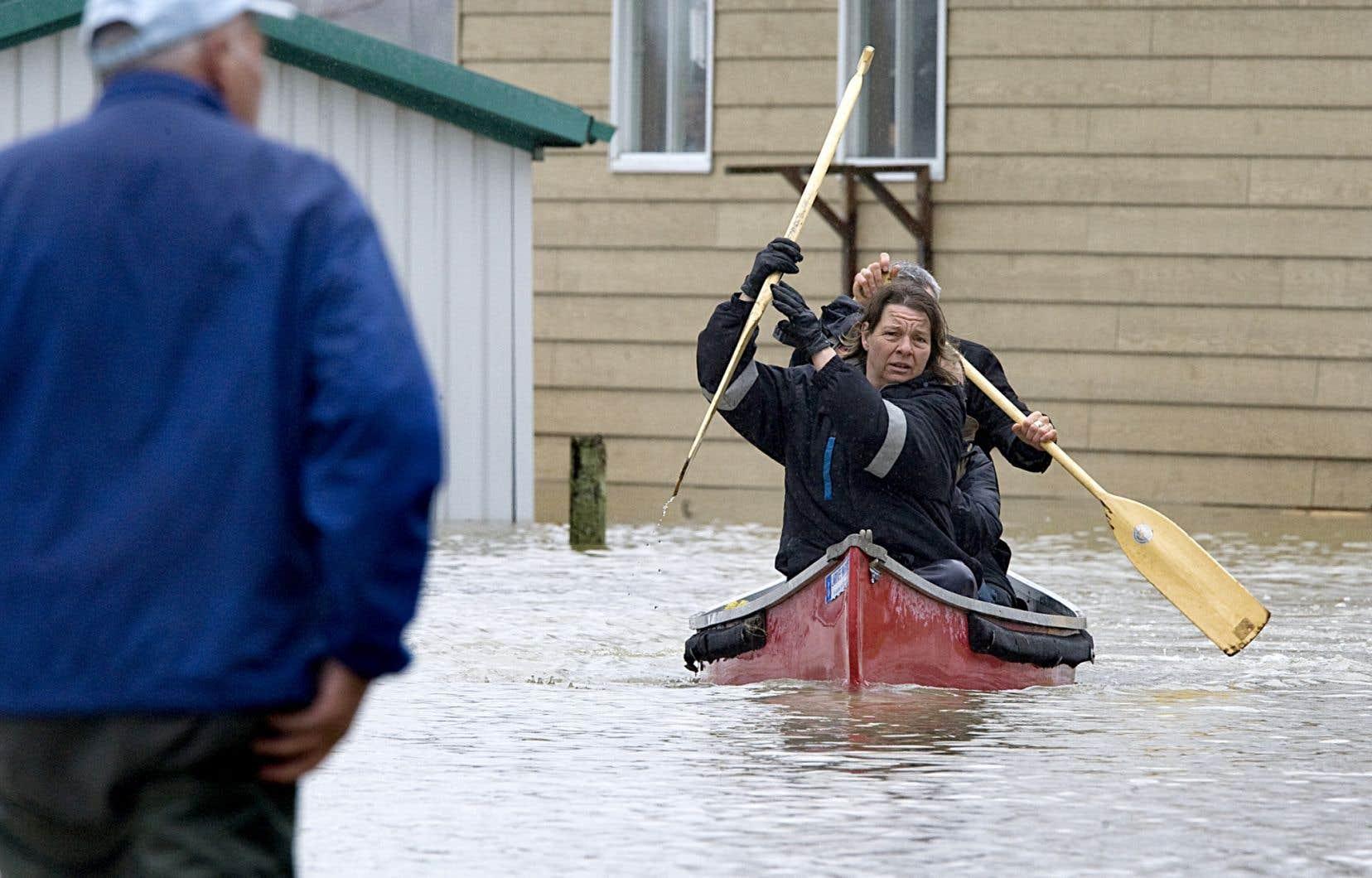 Une scène des inondations printanières survenues en Montérégie en 2011