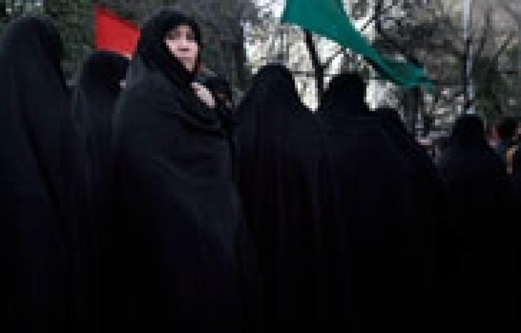 Manifestation des femmes à Téhéran.