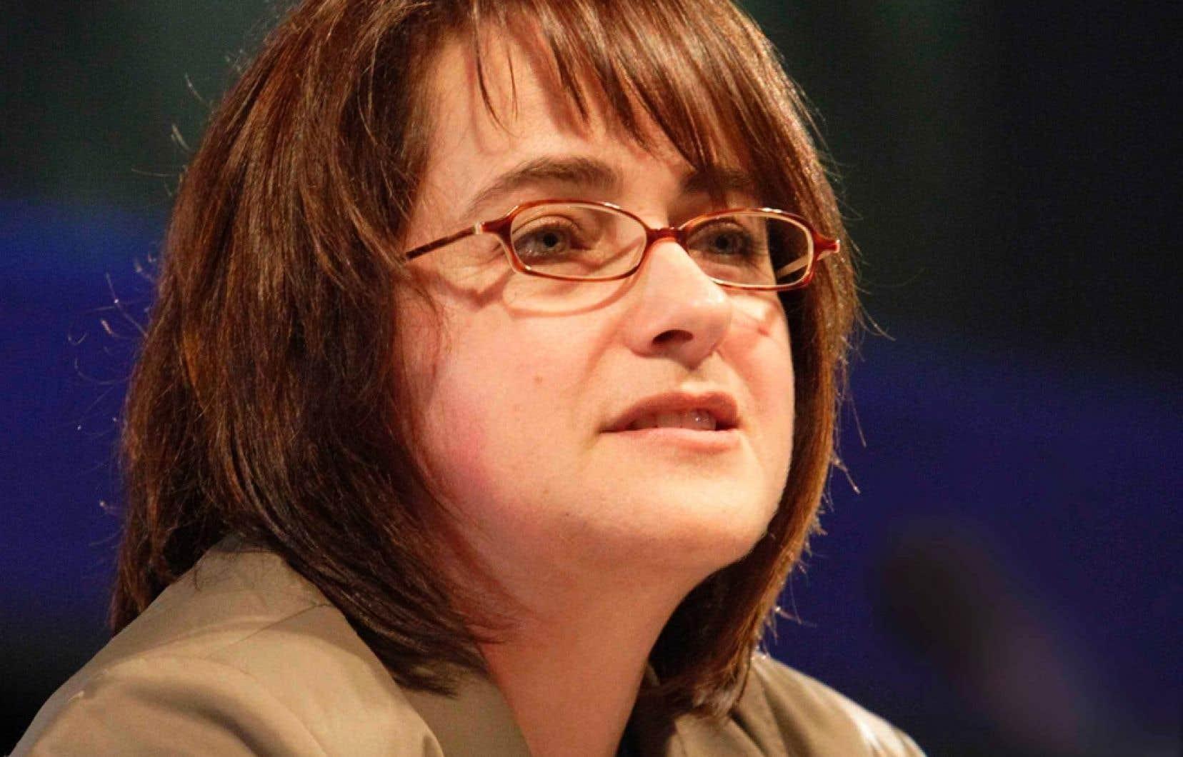 La vice-présidente de la CSN, Francine Lévesque