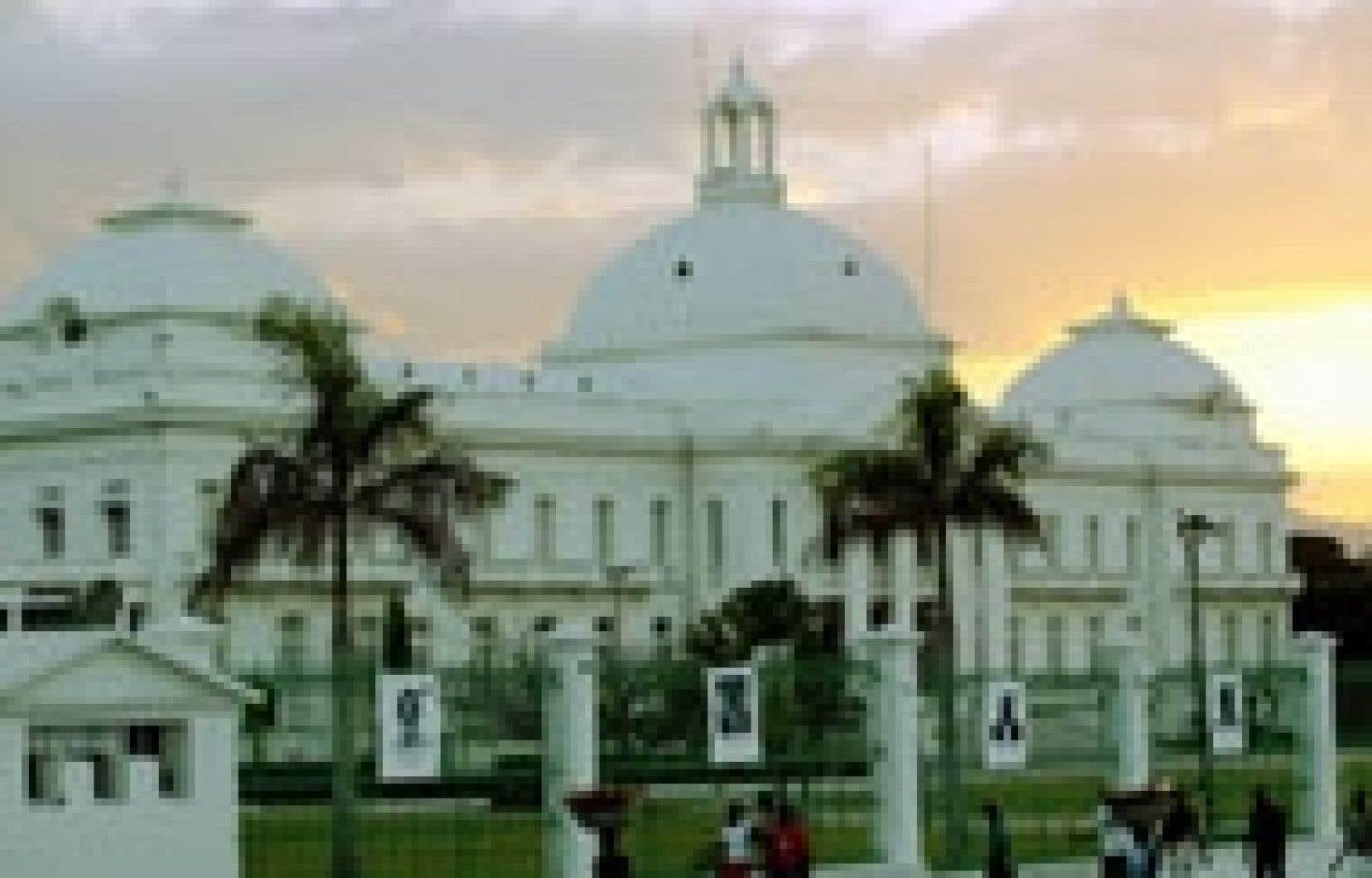 Le Palais national haïtien.