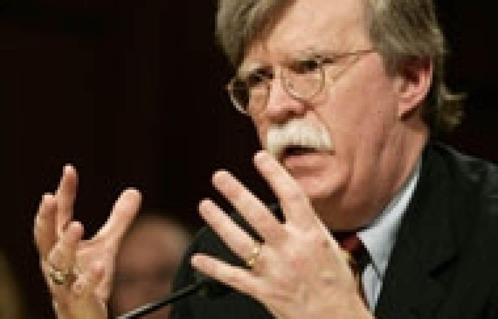 L'ambassadeur américain John Bolton préside le Conseil de sécurité en février.