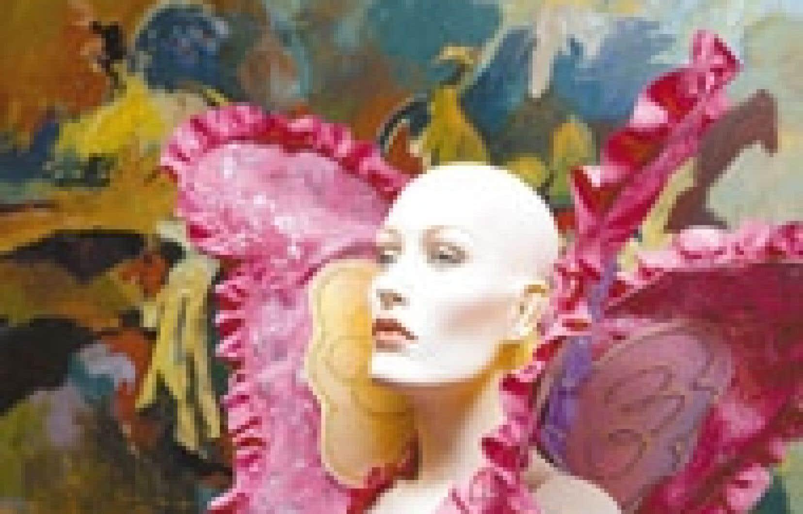 Oreilles-papillon, un costume conçu pour le personnage Joujou Velcro (Vincent Bolduc) dans la télésérie Cover Girl.