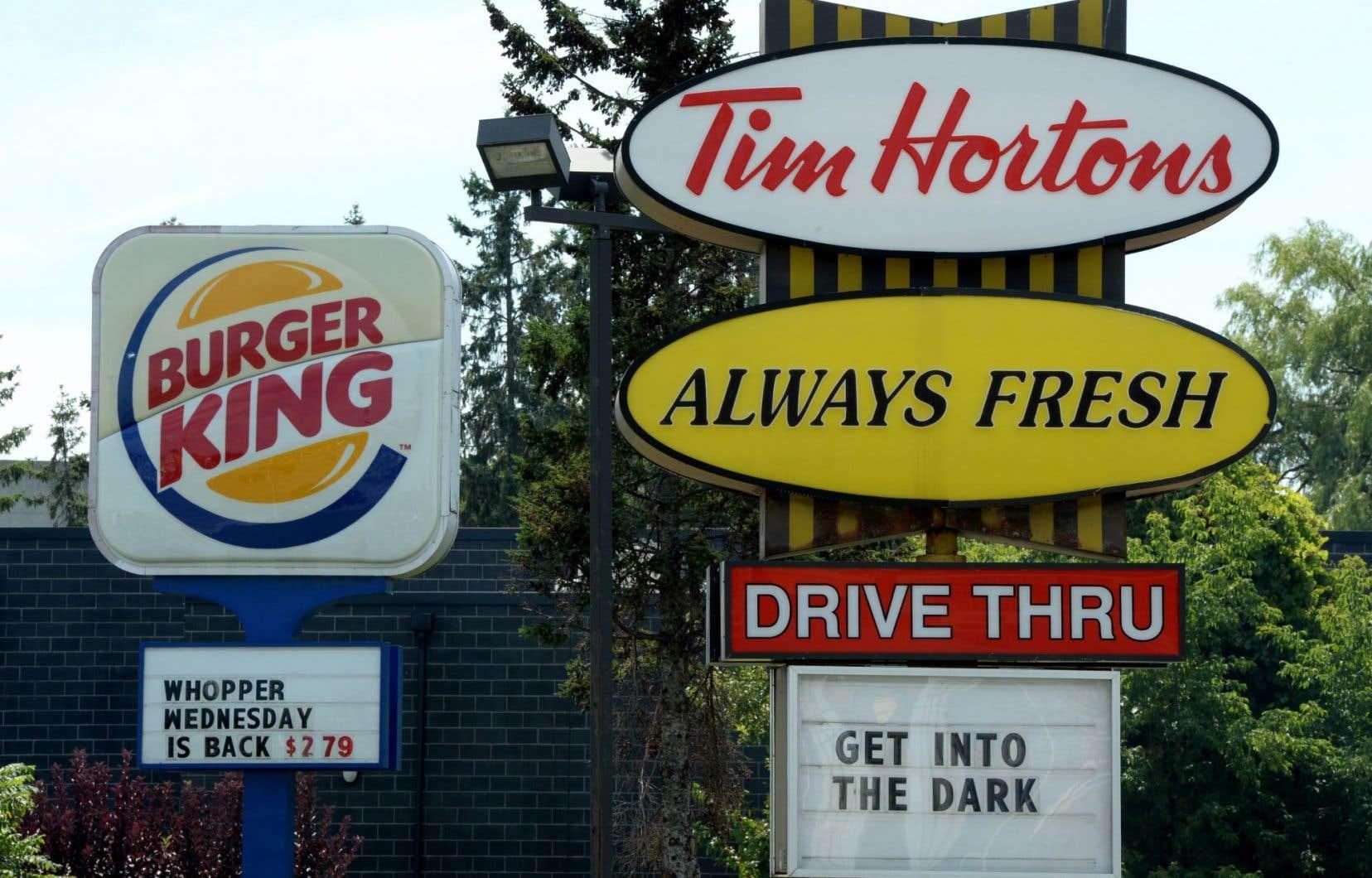 L'entente entre Tim Hortons et Burger King a été annoncée à peine plus de 24 heures après que les deux entreprises eurent confirmé tenir des discussions.