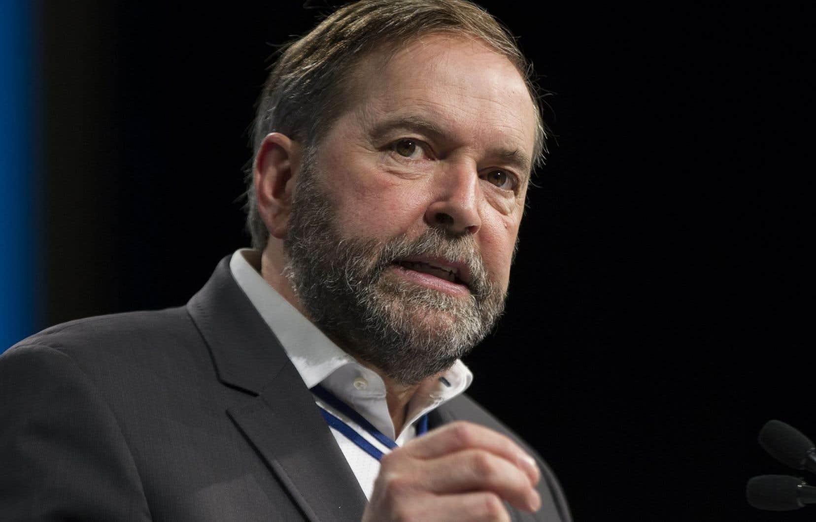 Le chef du Nouveau Parti démocratique Thomas Mulcair