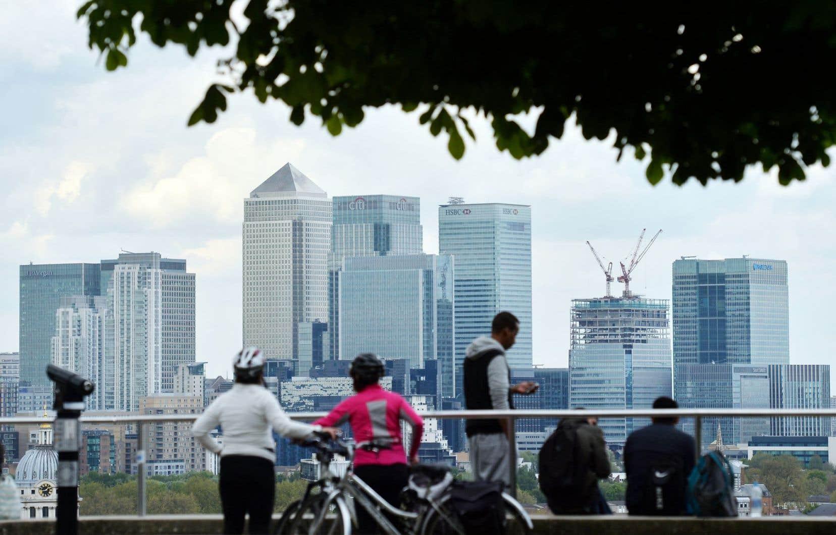 Vue sur la City de Londres, le quartier financier de la capitable britannique