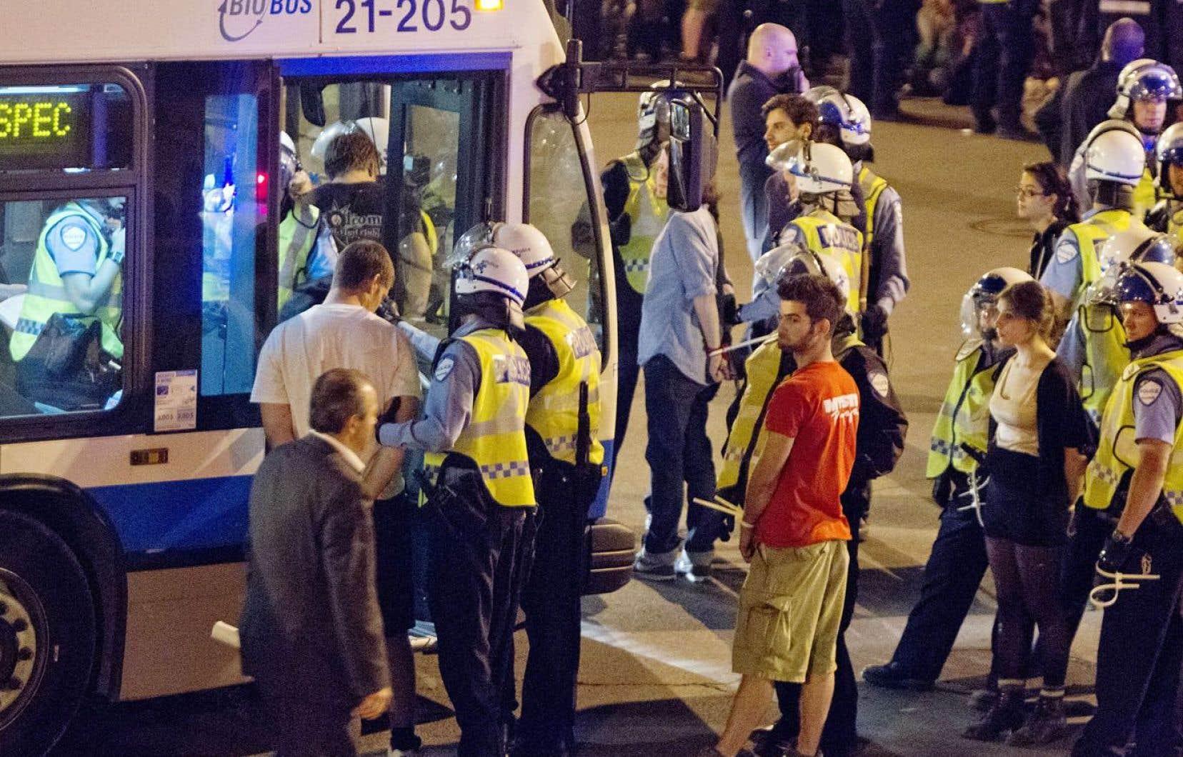 Plus de 500 personnes avaient été arrêtées lors de la 30emanifestation nocturne du printemps.