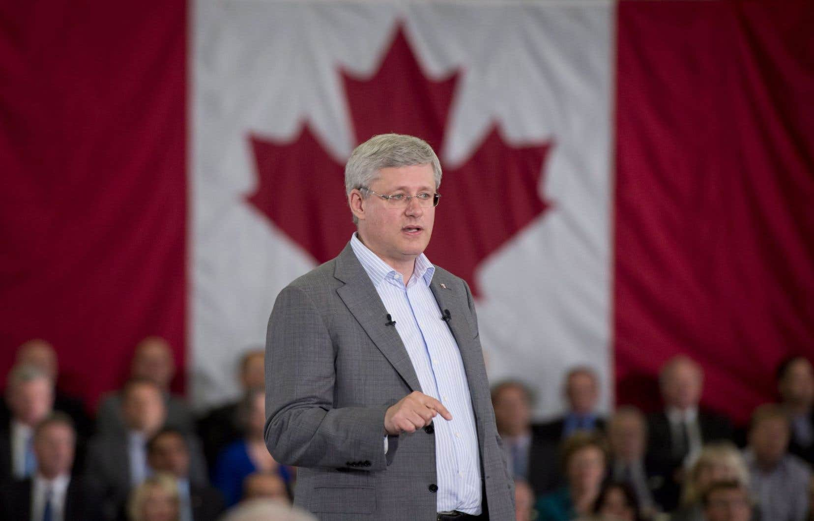 Le discours du premier ministre Stephen Harper avait toutes les allures d'un rallye électoral.