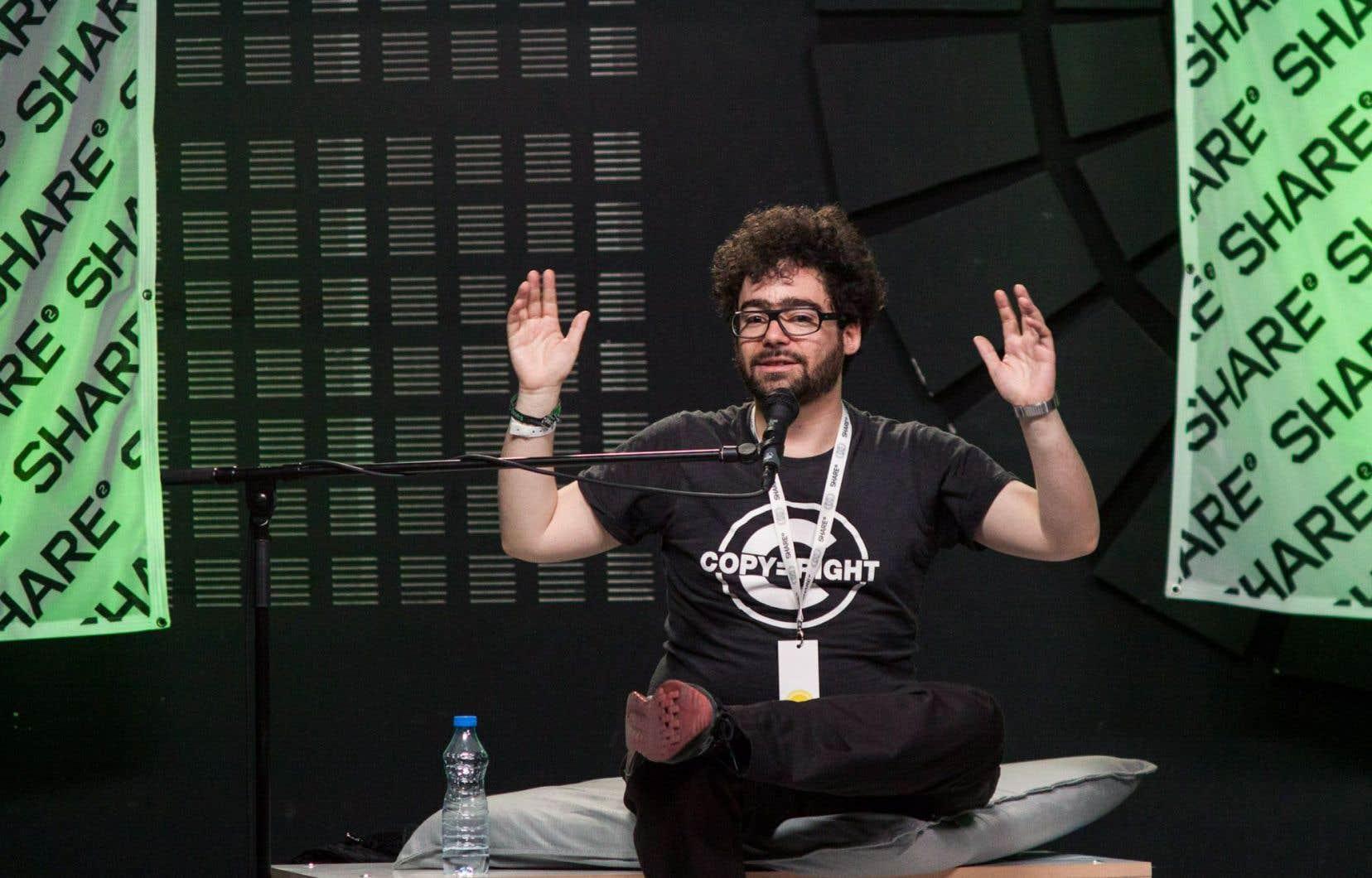 L'activiste français Jérémie Zimmermann