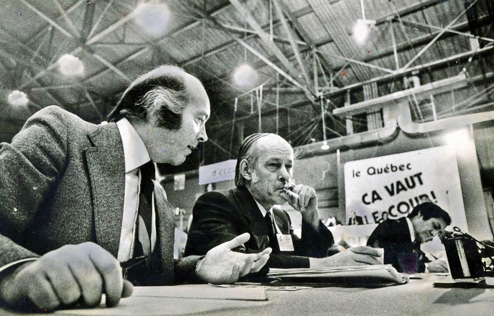 Claude Morin, René Lévesque et Marc-André Bédard en 1974