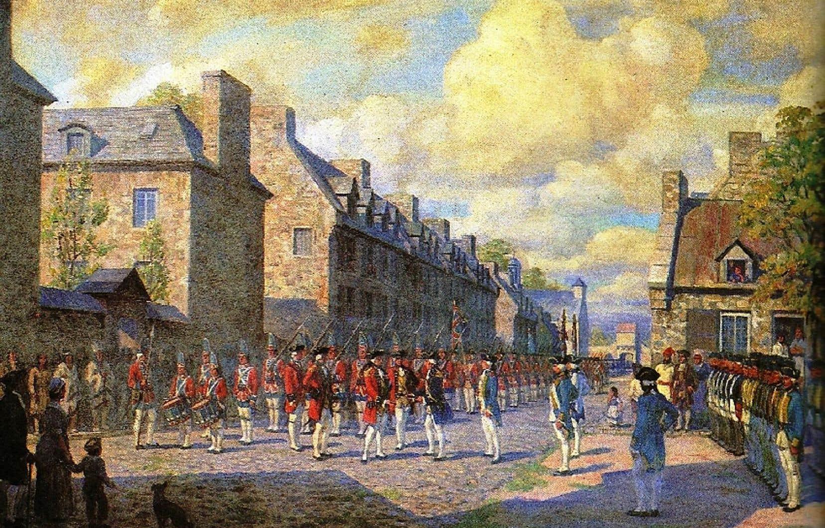 La capitulation de Montréal en 1760