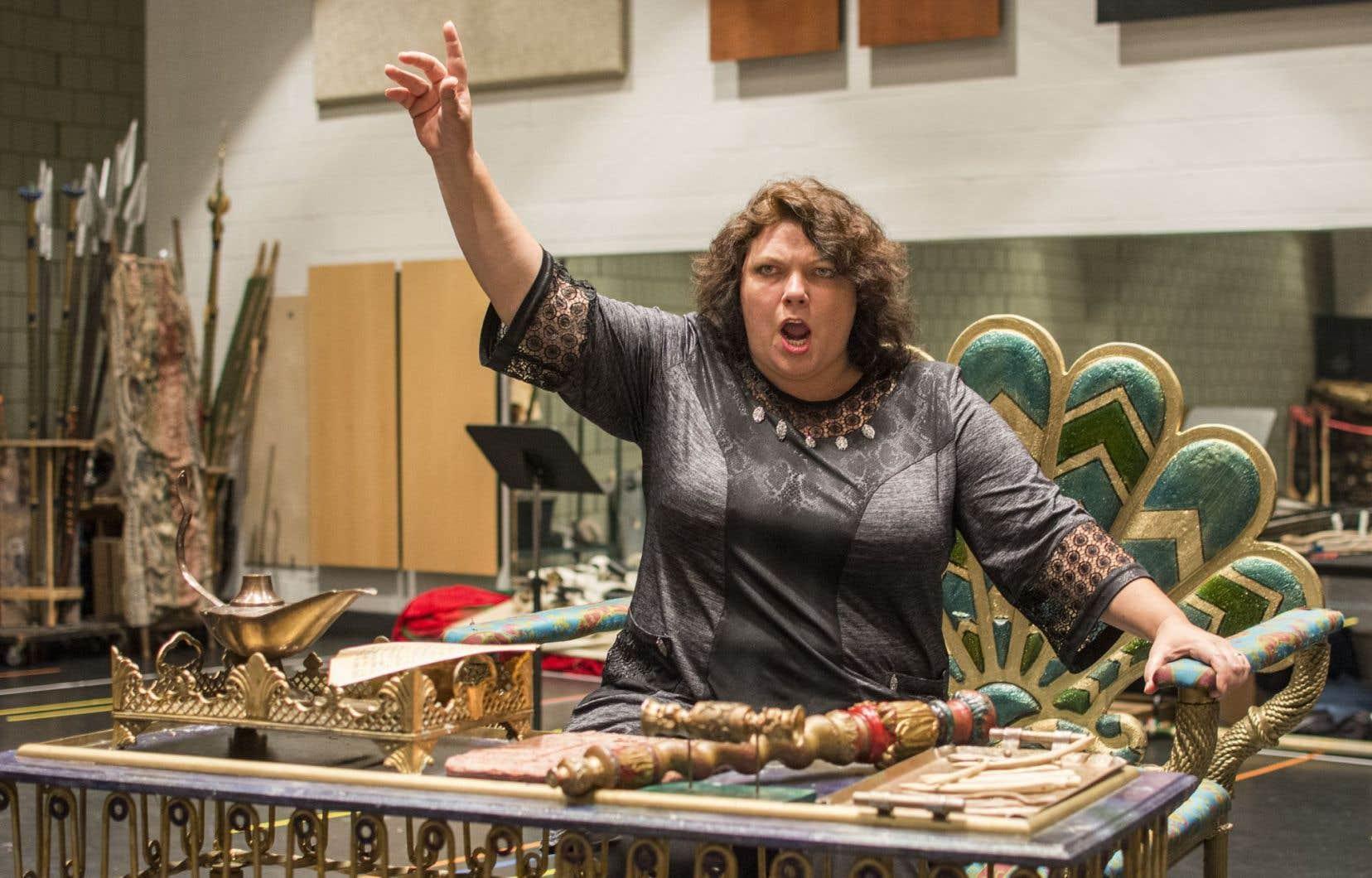 Tatiana Melnychenko en répétition
