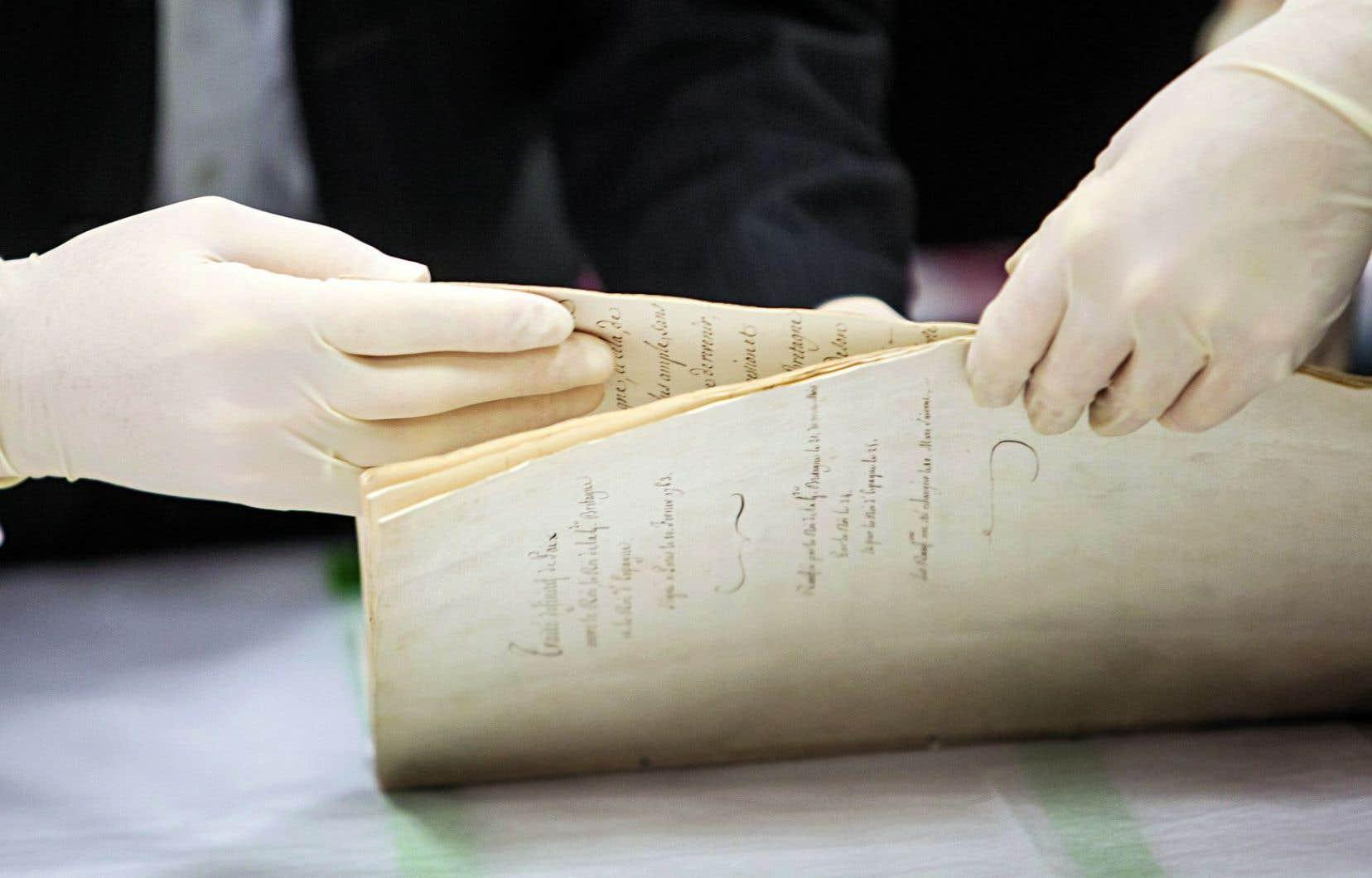 Le document historique est exposé pour une dizaine de jours au Musée de la civilisation.