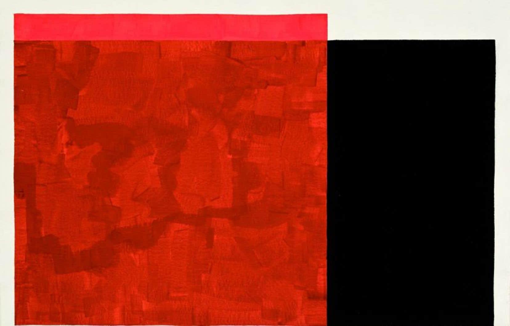 «Sans titre», 1975, gouache sur papier