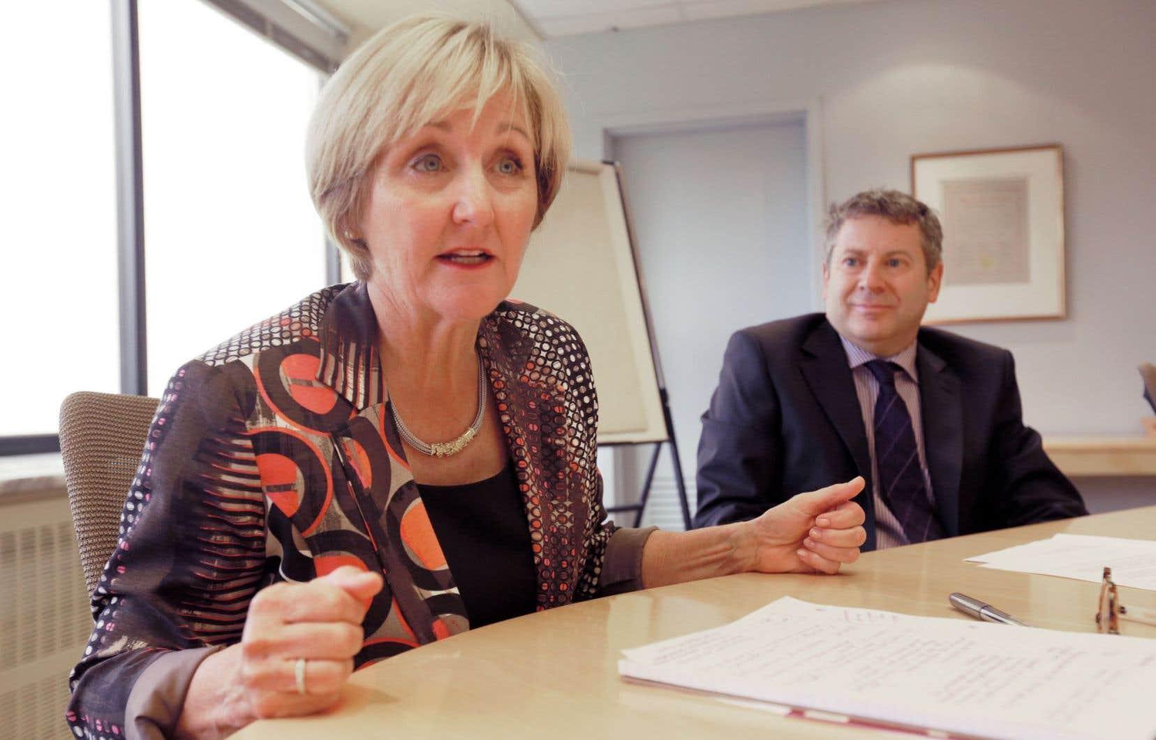Diane Legault et Jean-François Thuot, respectivement présidente et directeur général du Conseil interprofessionnel du Québec.