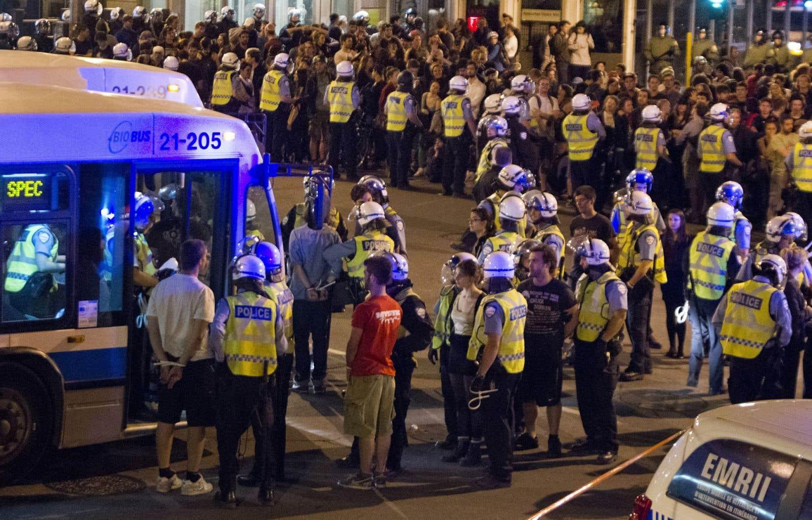 Arrestations de masse en mai 2012 à Montréal