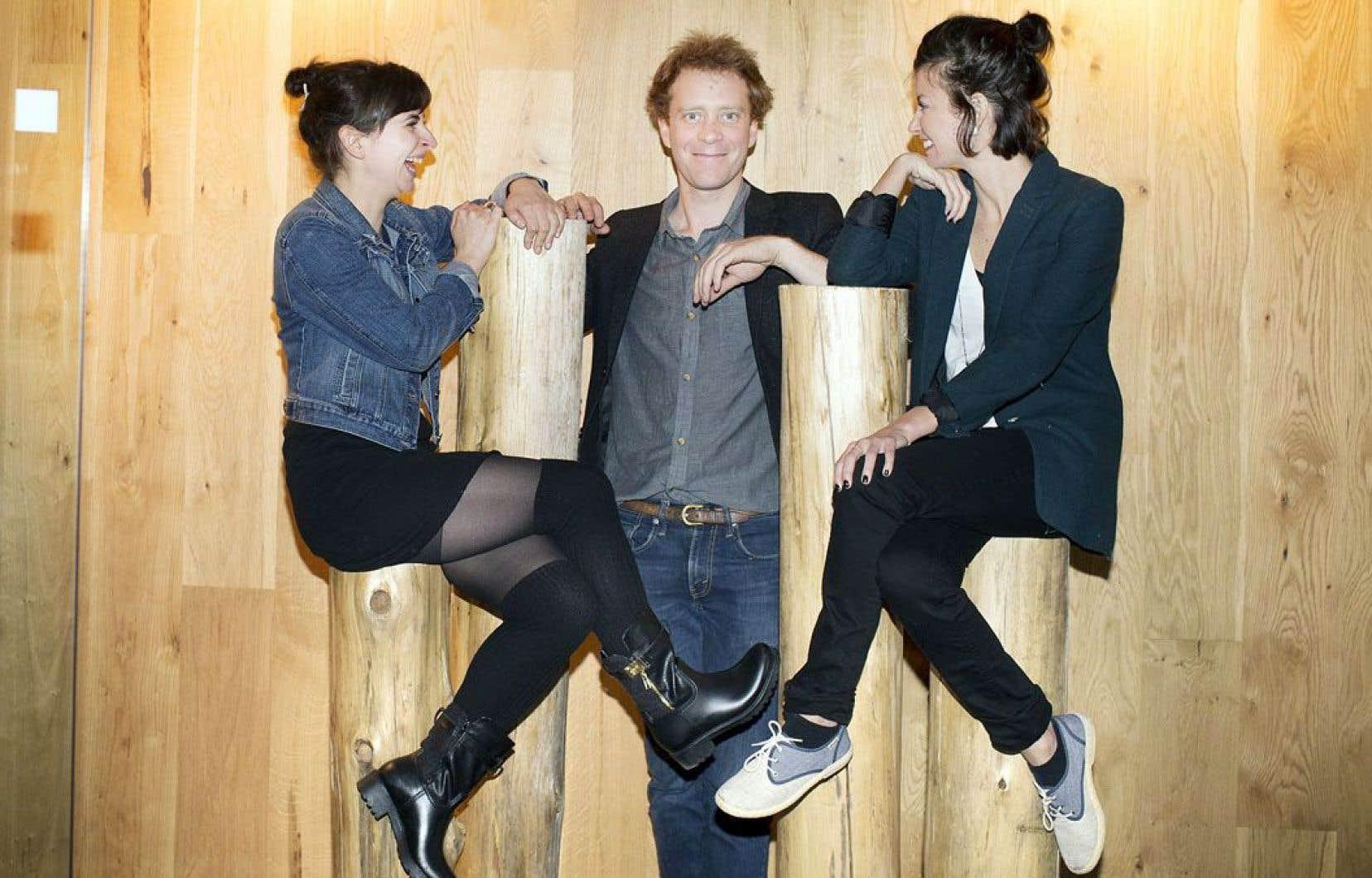 Sonia Cordeau, Simon Lacroix et Raphaëlle Lalande