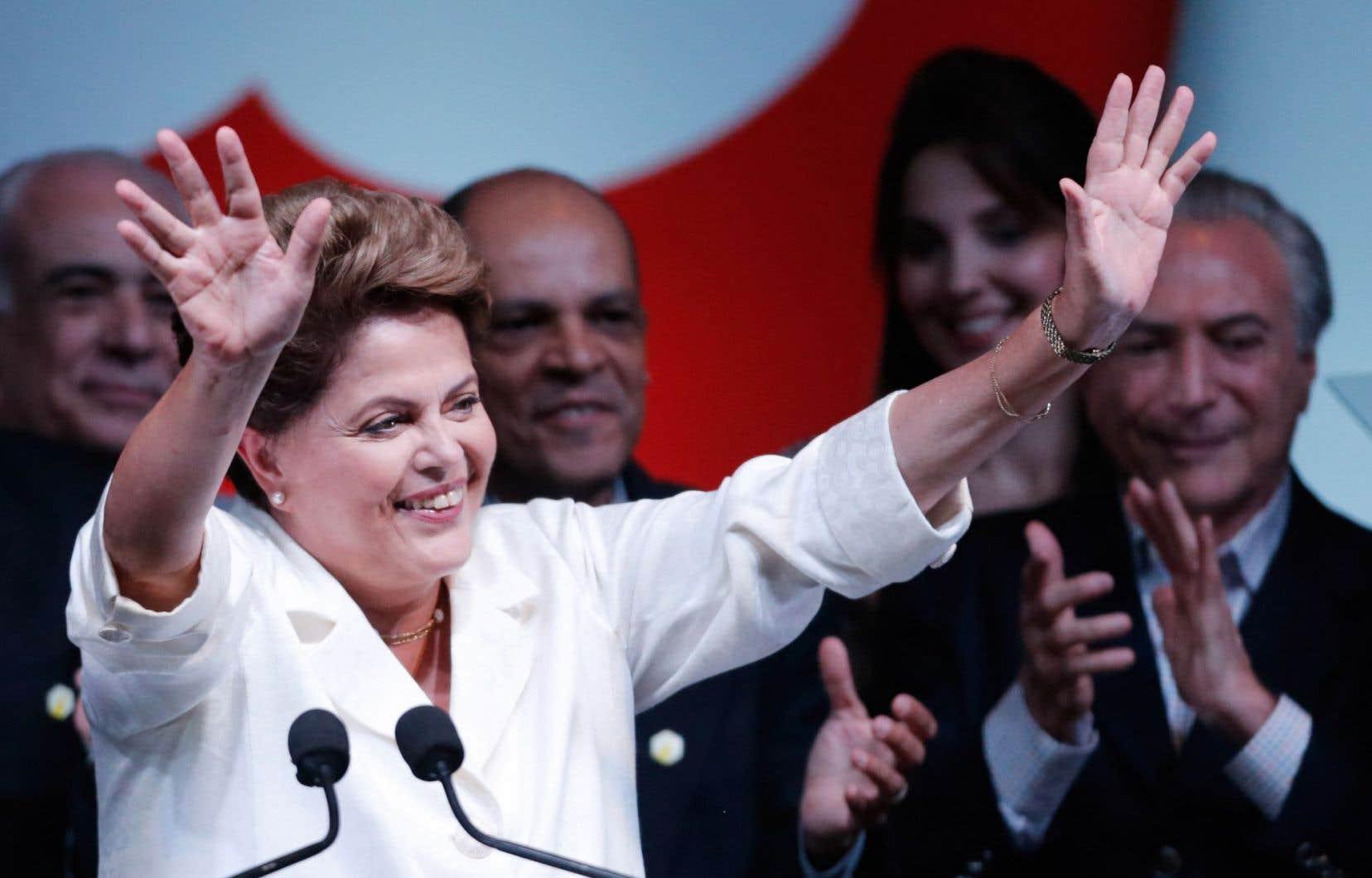 L'actuelle présidente du Brésil, Dilma Rousseff