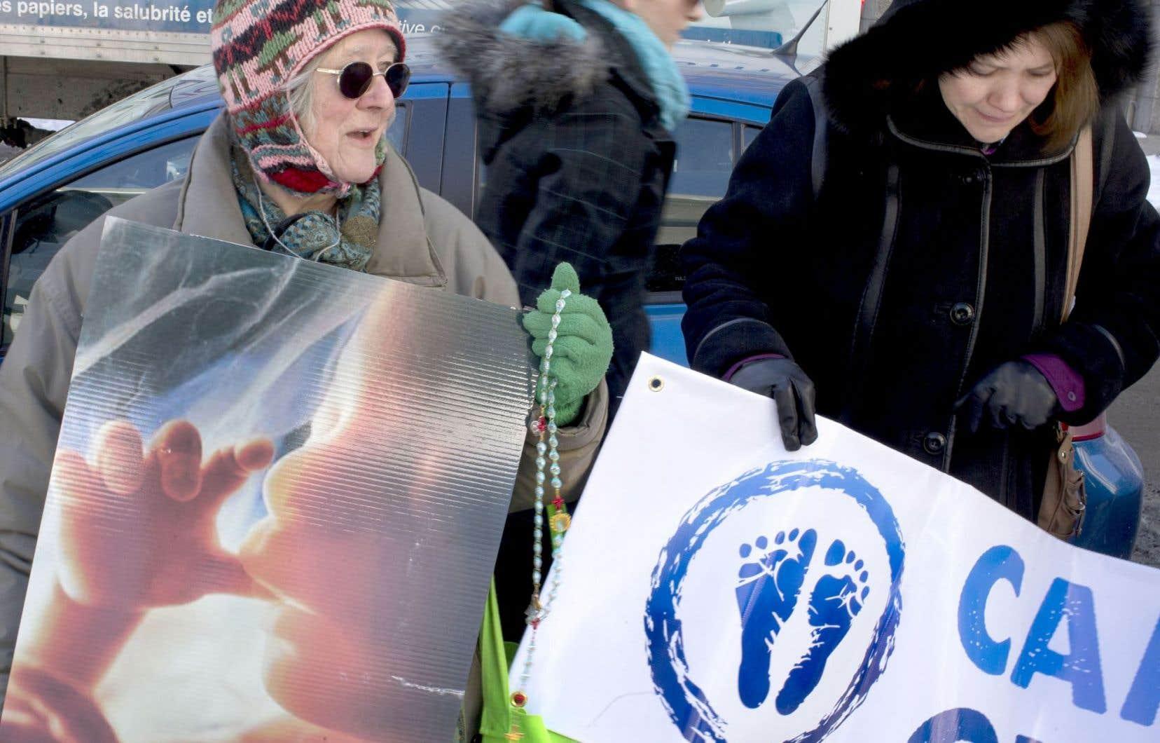 Manifestation pro-vie à Montréal en février 2014